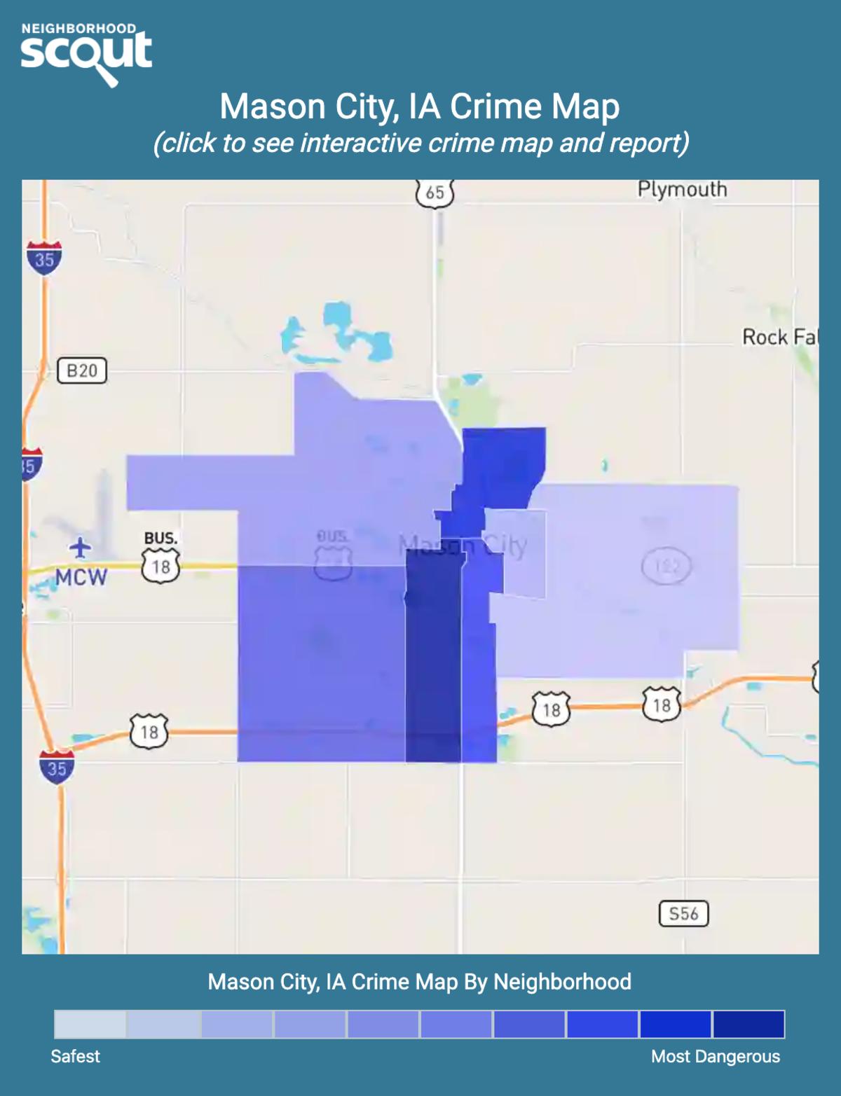 Mason City, Iowa crime map