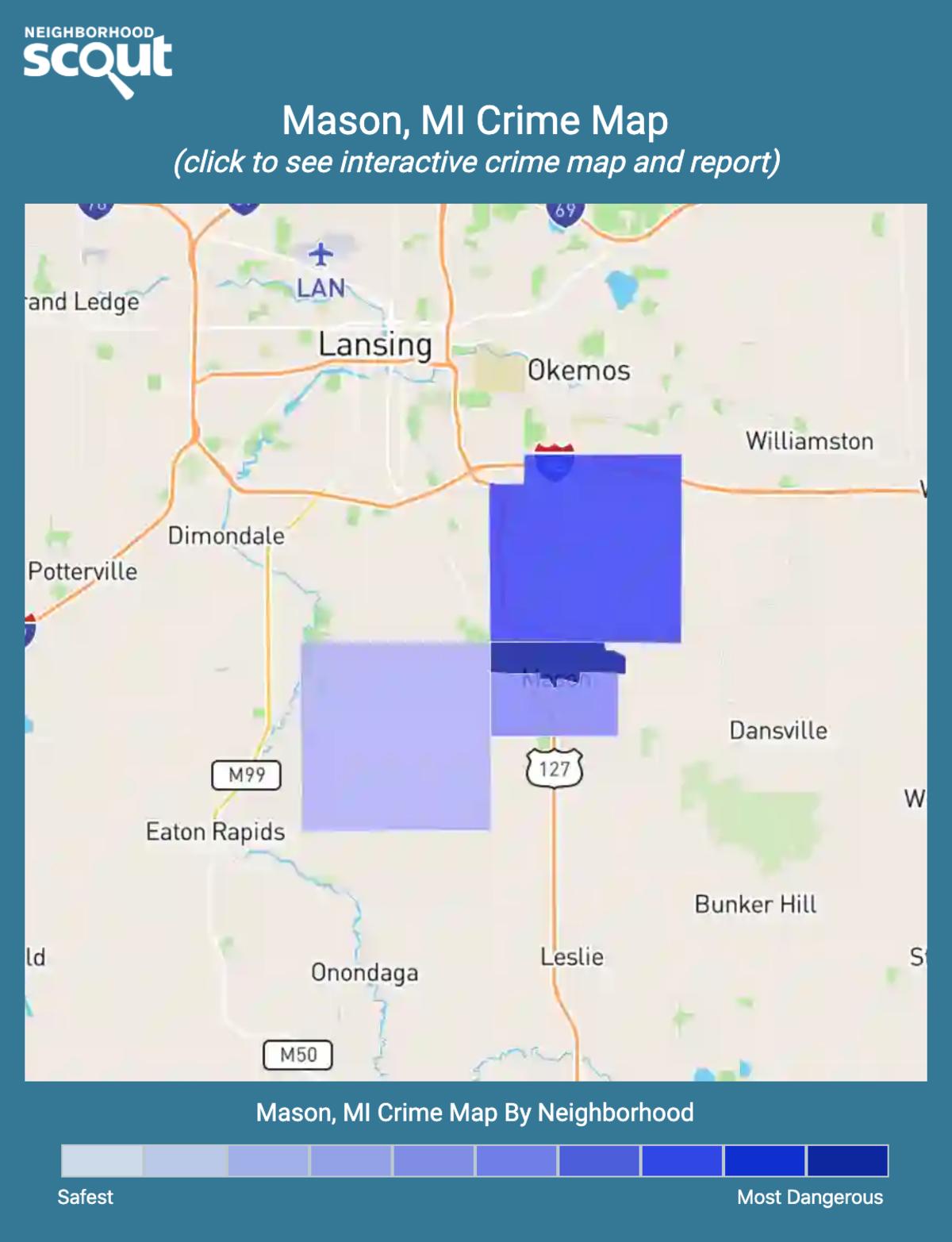 Mason, Michigan crime map