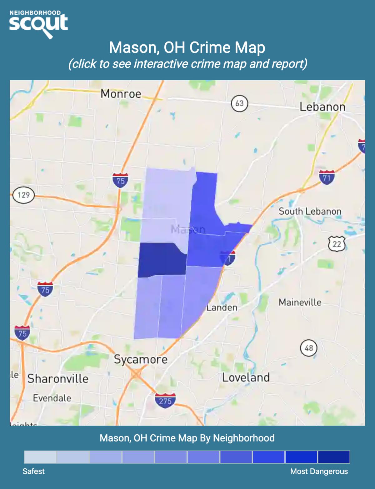Mason, Ohio crime map