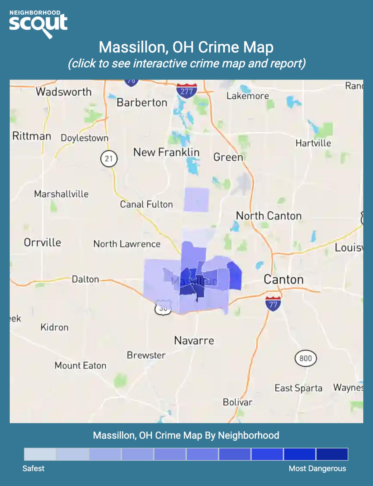 Massillon, Ohio crime map