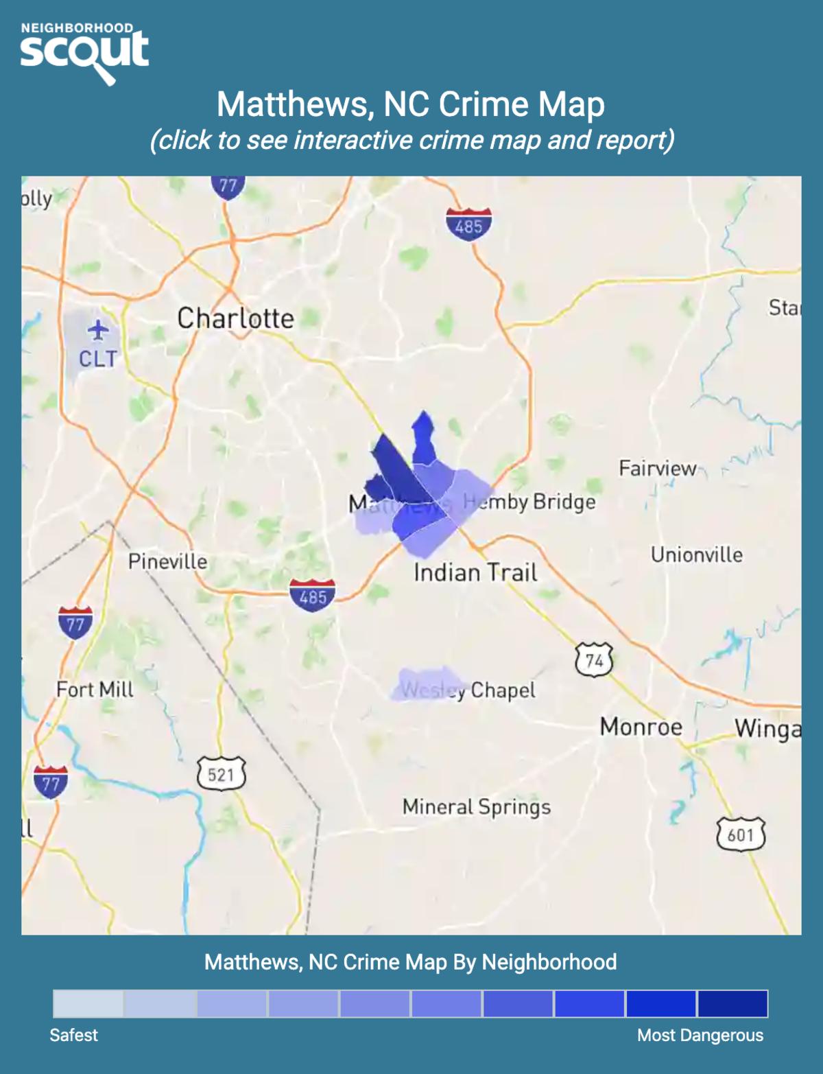 Matthews, North Carolina crime map
