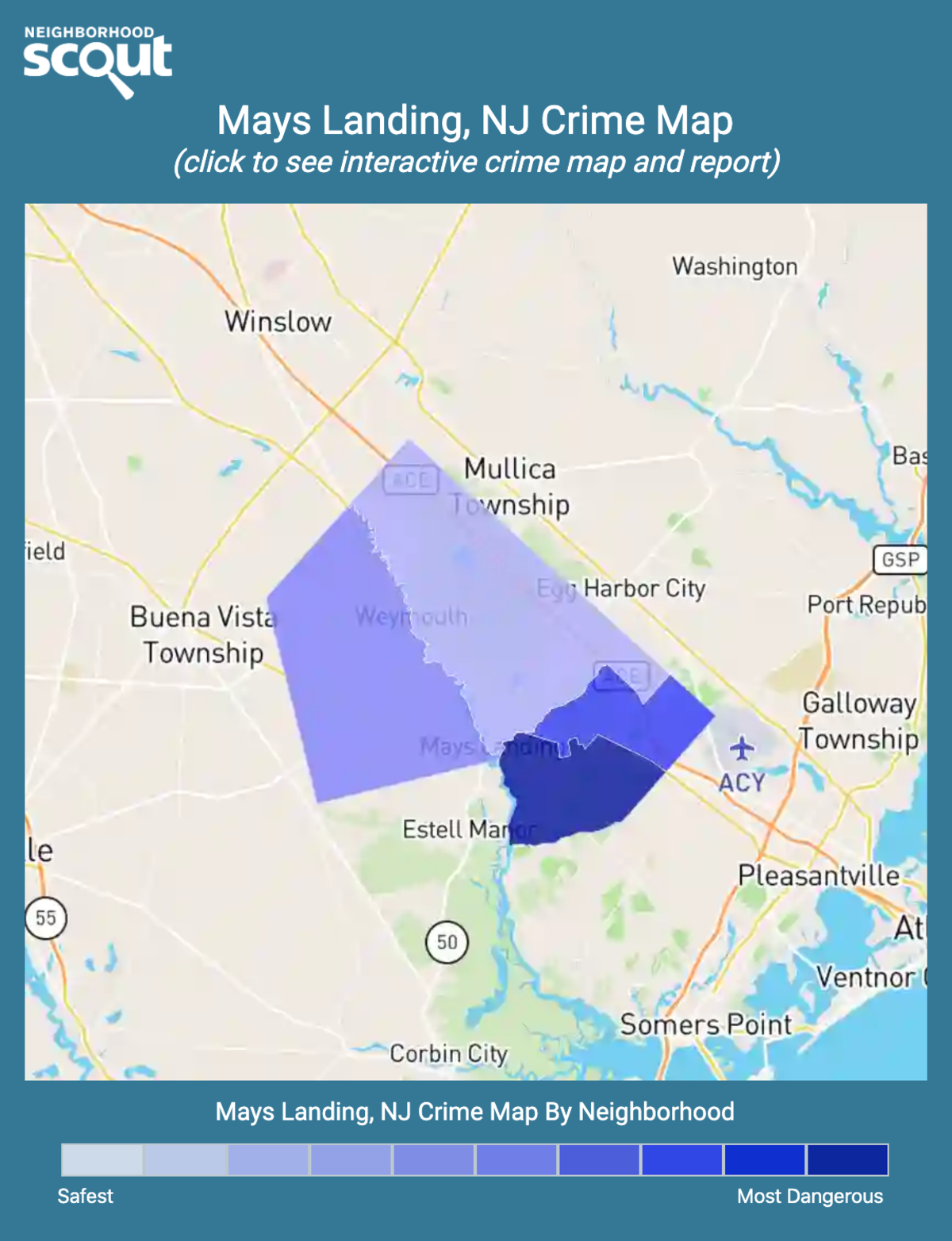 Mays Landing, New Jersey crime map