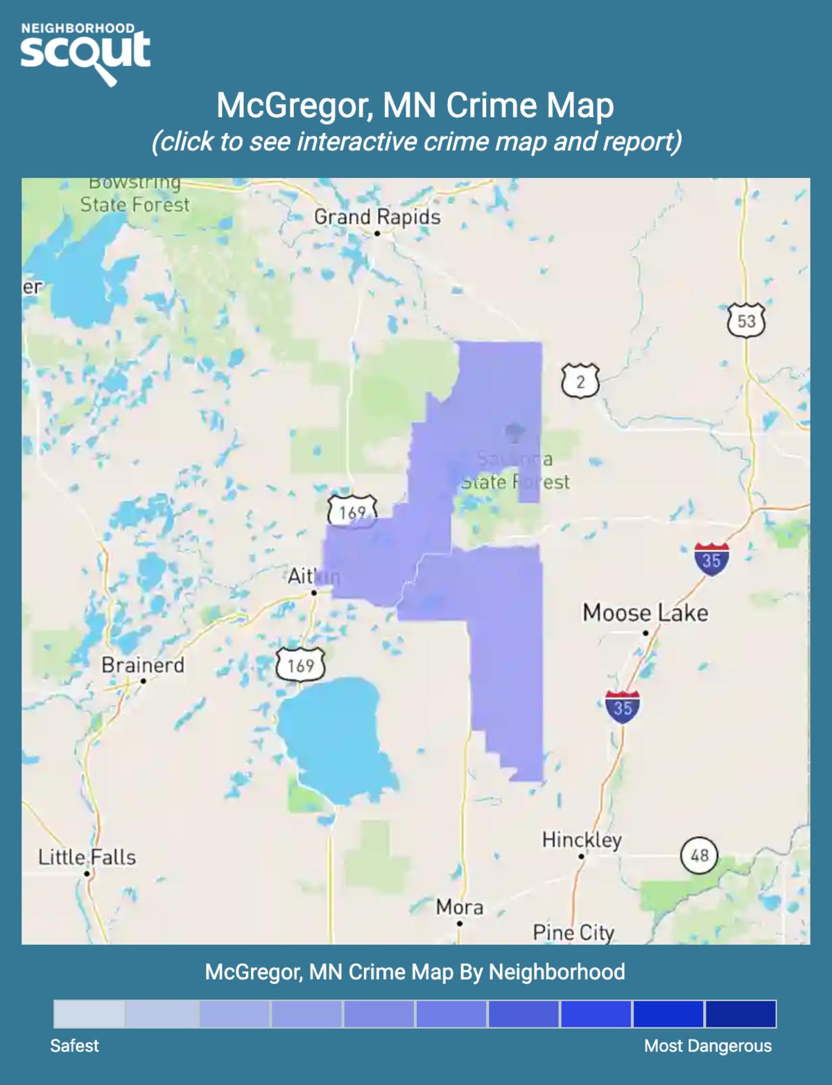McGregor, Minnesota crime map