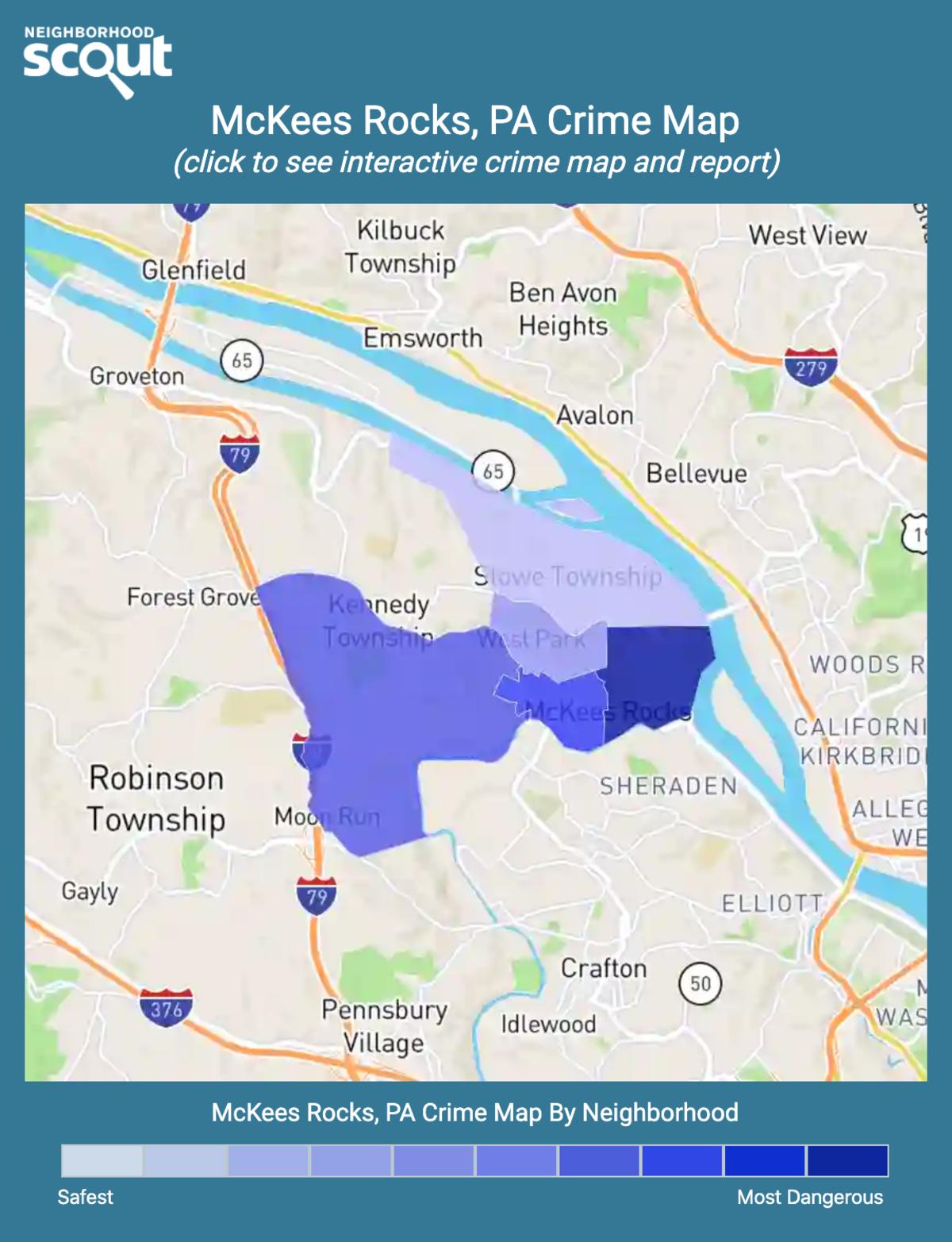 McKees Rocks, Pennsylvania crime map
