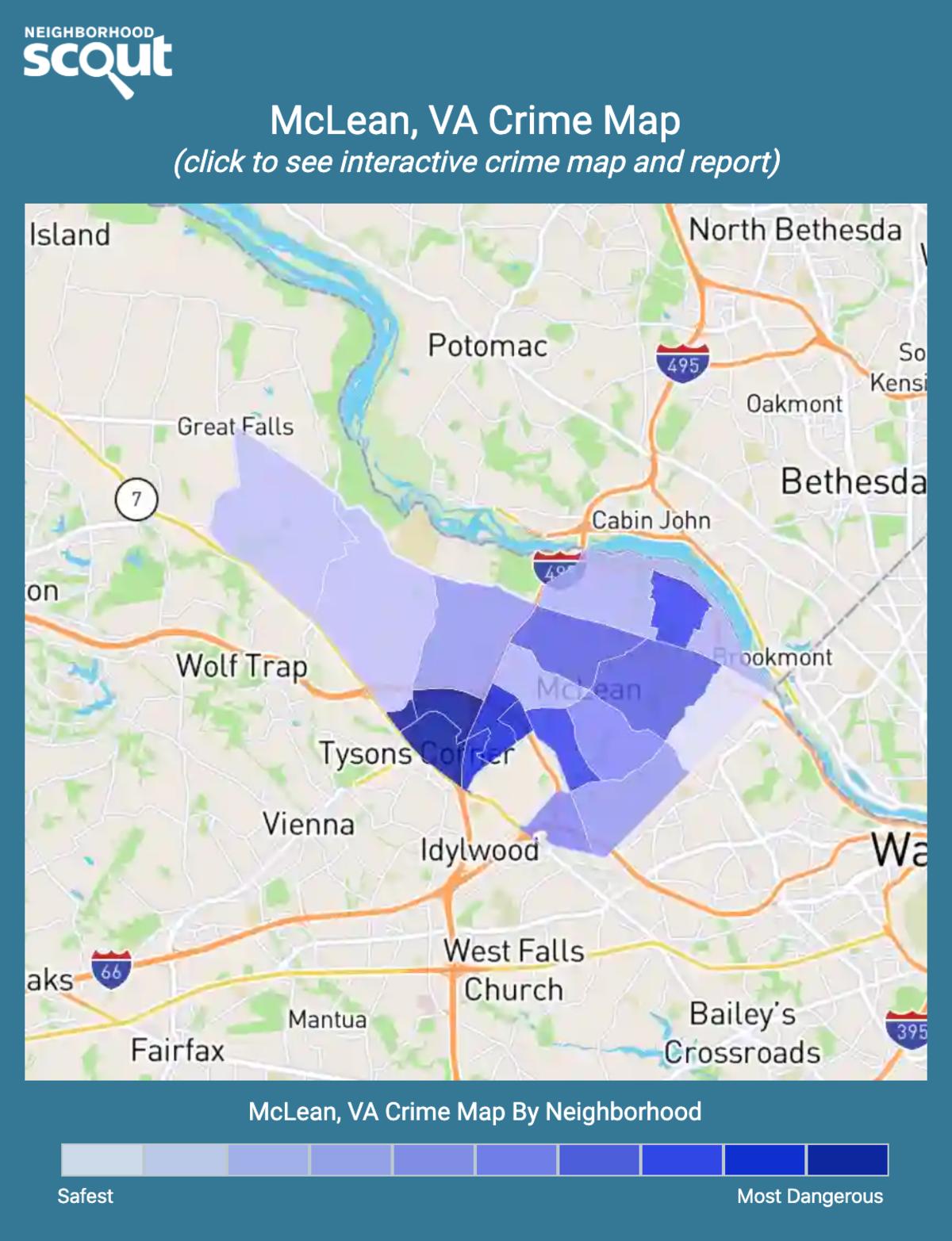 McLean, Virginia crime map