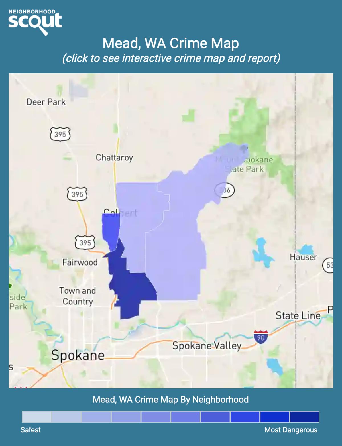 Mead, Washington crime map