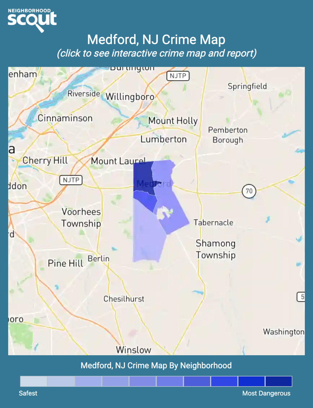 Medford, New Jersey crime map