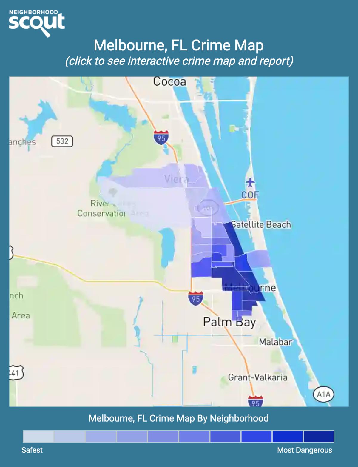 Melbourne, Florida crime map