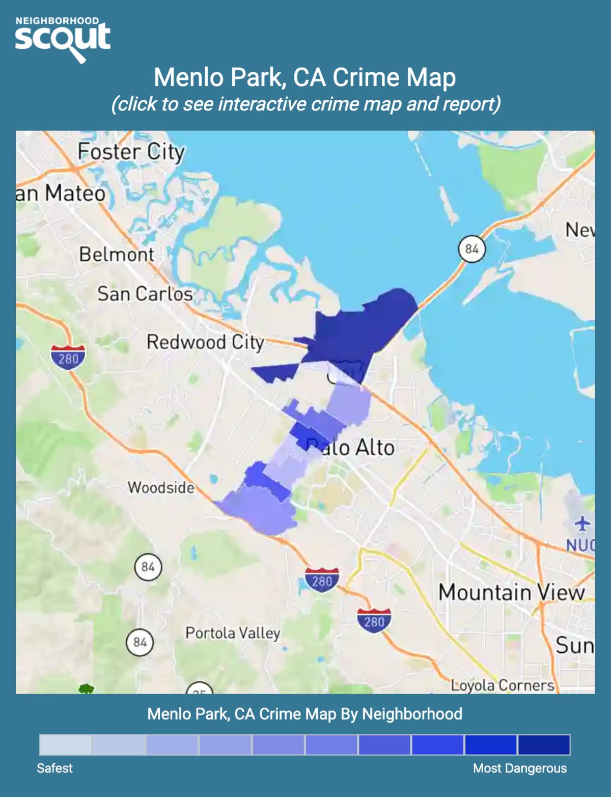 Menlo Park, California crime map