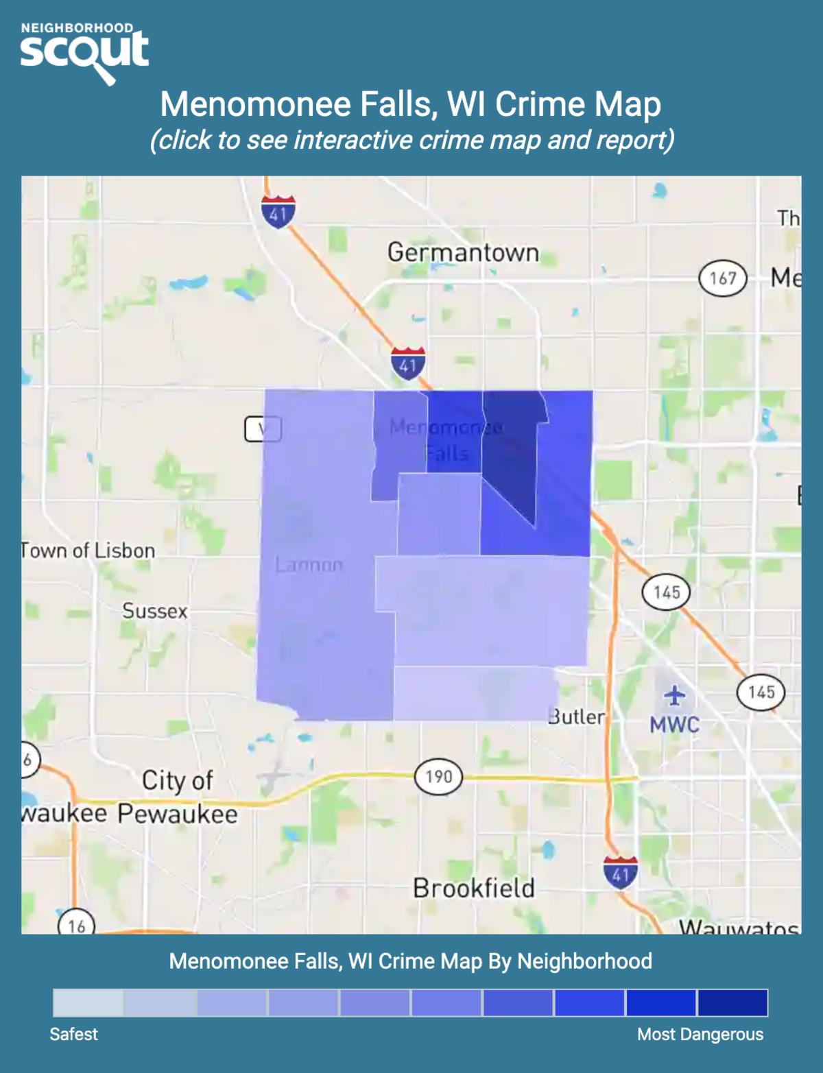 Menomonee Falls, Wisconsin crime map