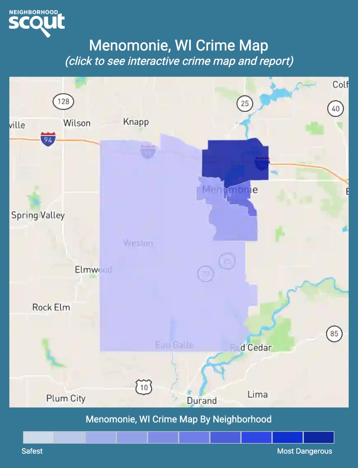 Menomonie, Wisconsin crime map
