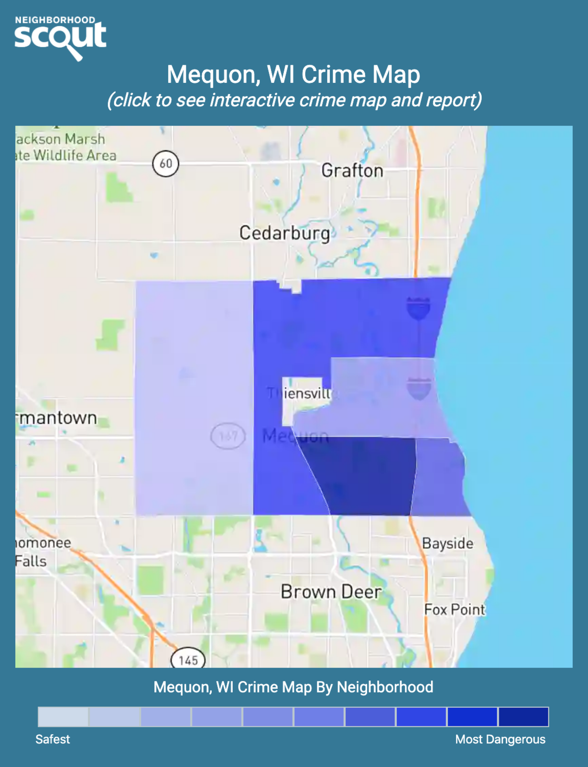Mequon, Wisconsin crime map