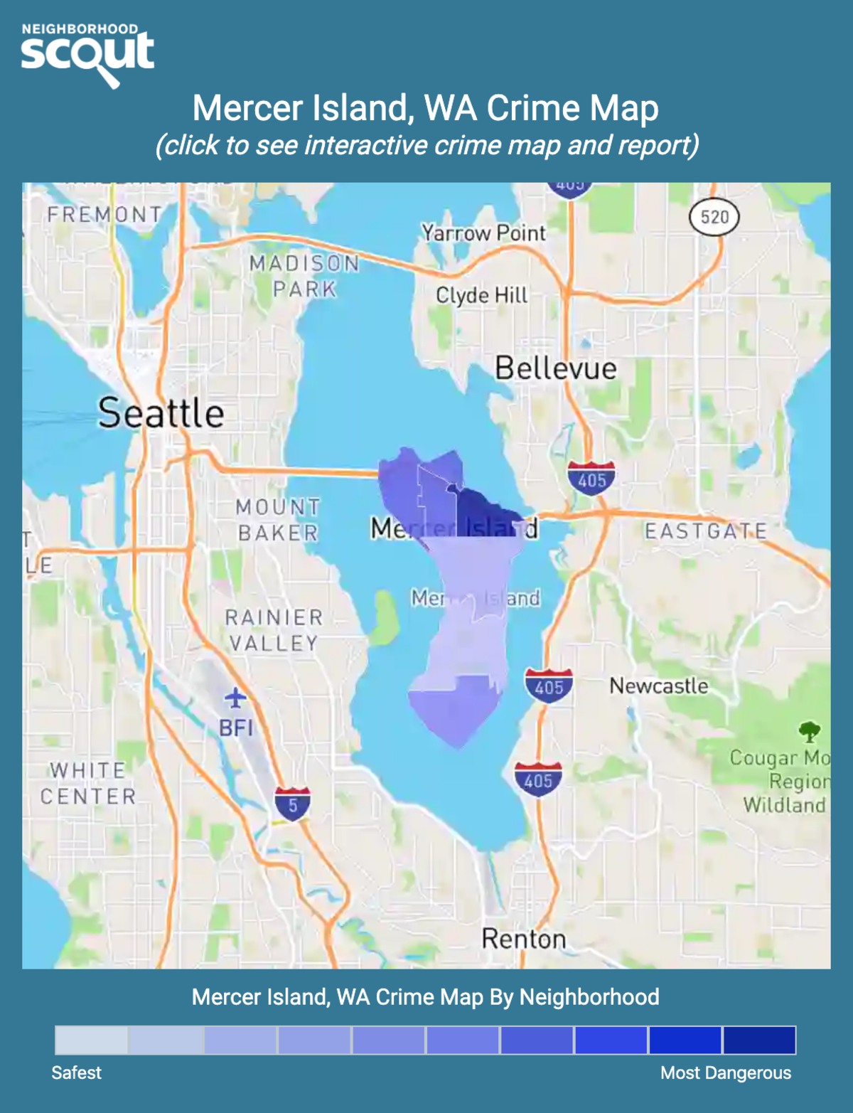 Mercer Island, Washington crime map