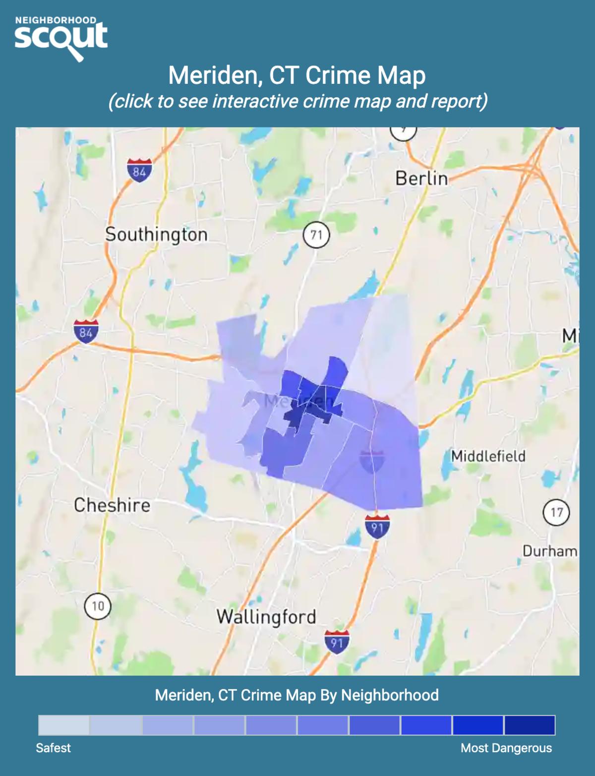 Meriden, Connecticut crime map