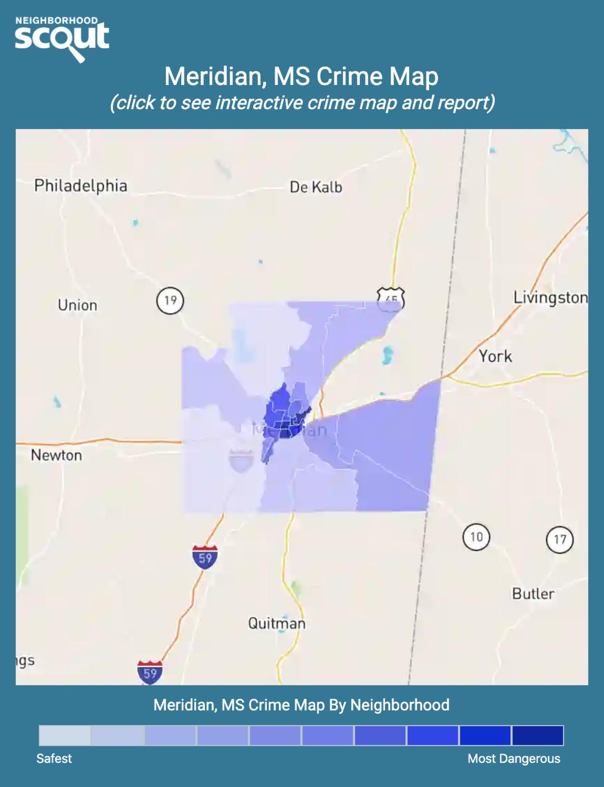 Meridian, Mississippi crime map