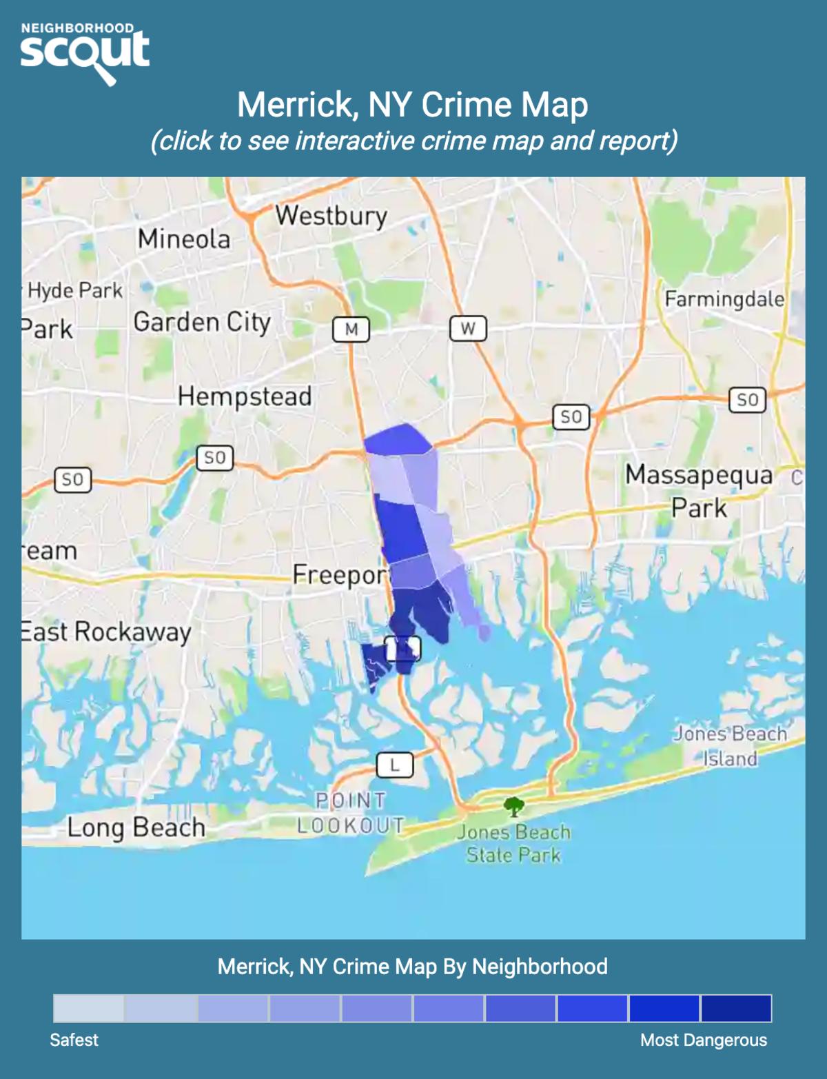 Merrick, New York crime map