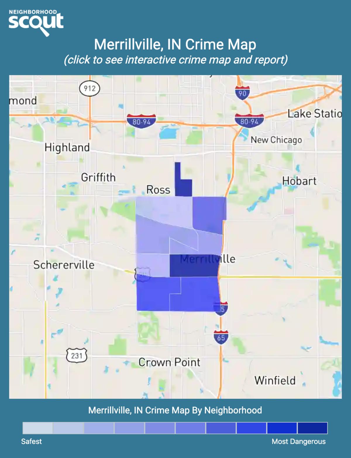 Merrillville, Indiana crime map