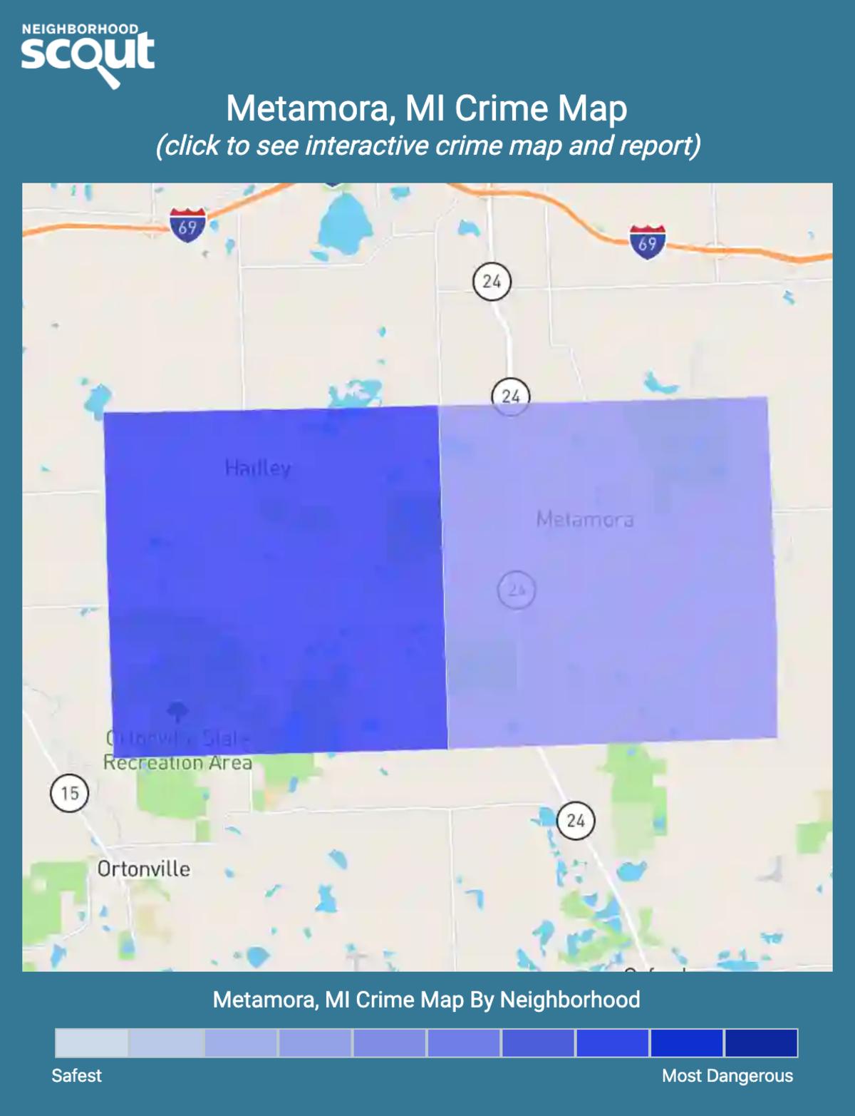 Metamora, Michigan crime map