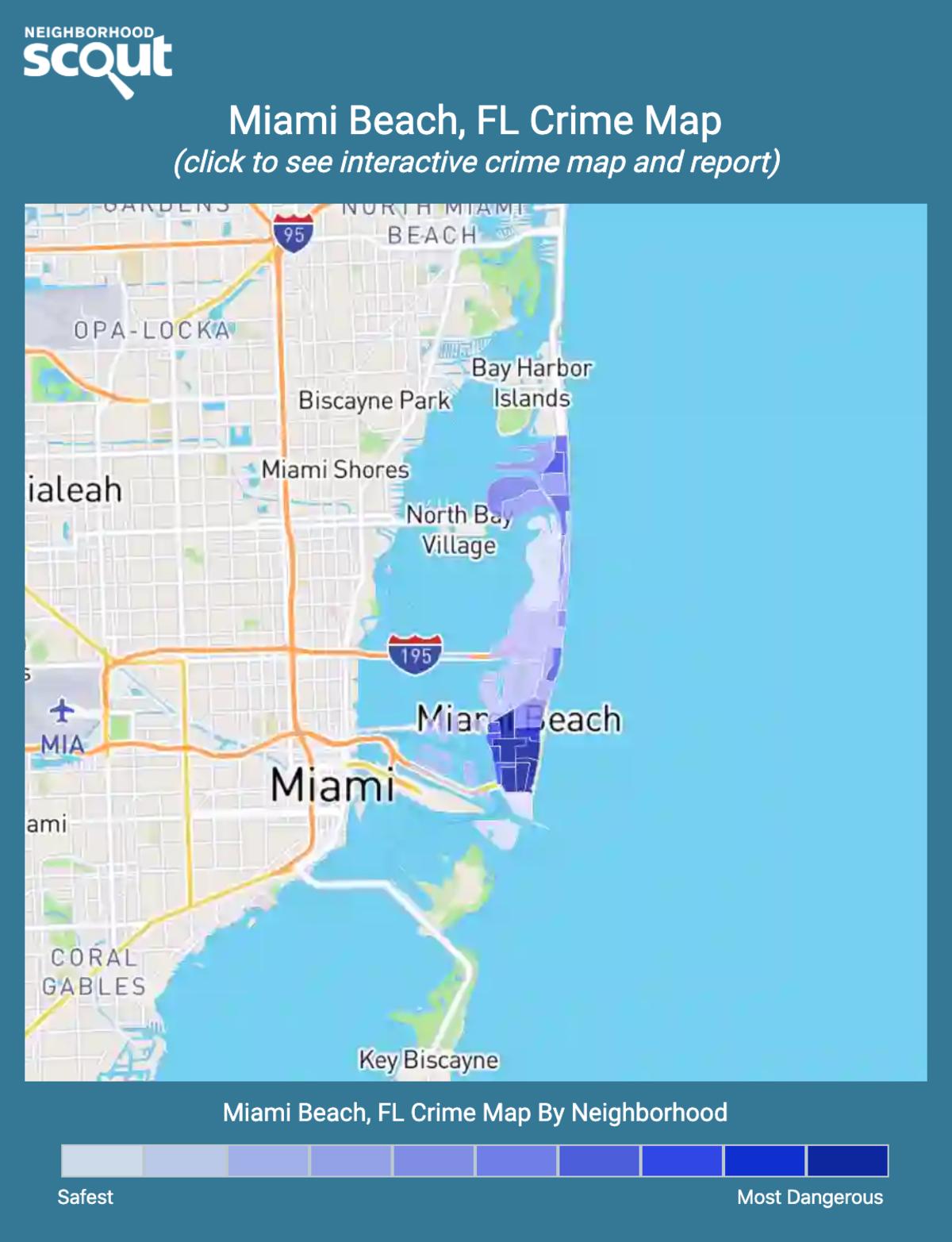 Miami Beach, Florida crime map