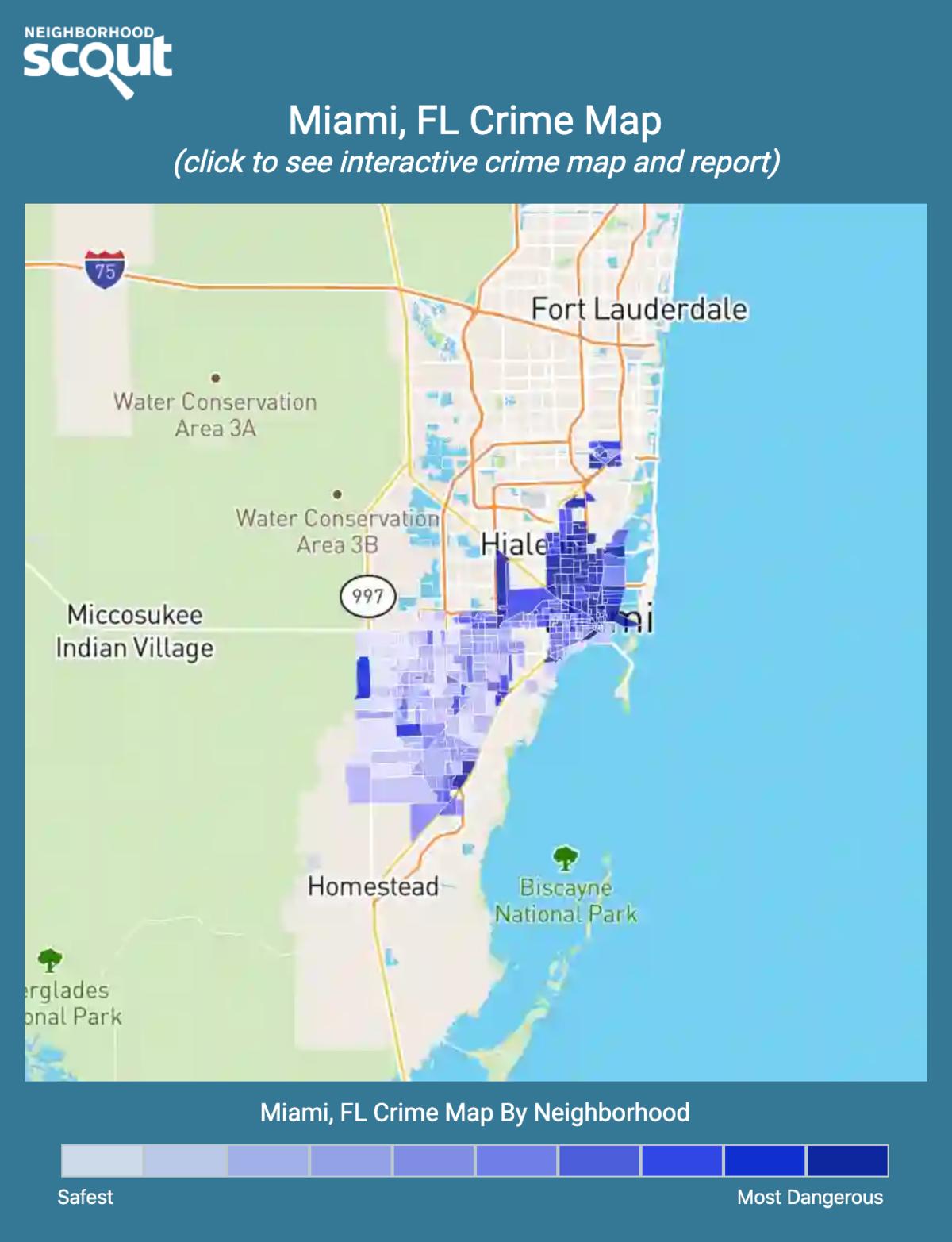 Miami, Florida crime map