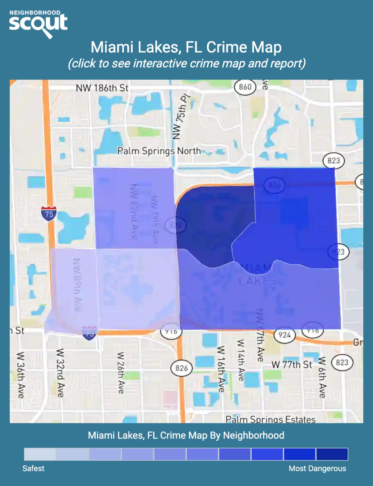 Miami Lakes, Florida crime map