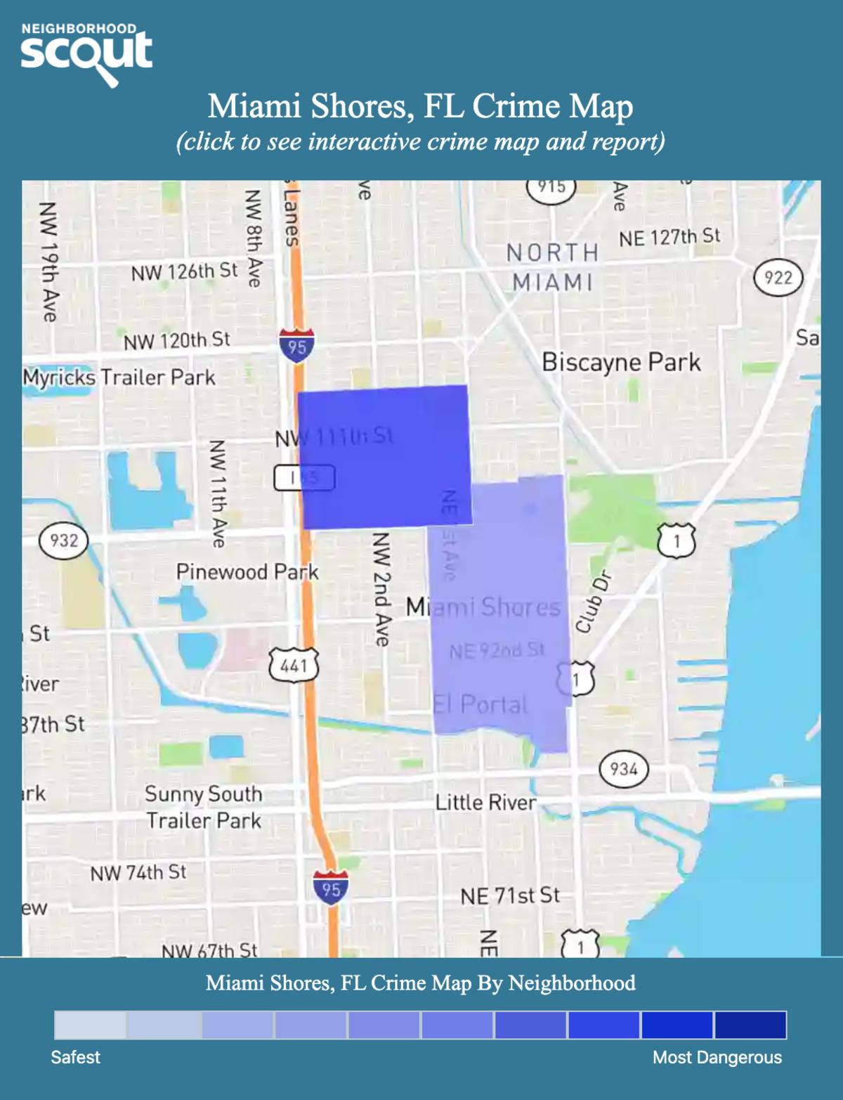 Miami Shores, Florida crime map