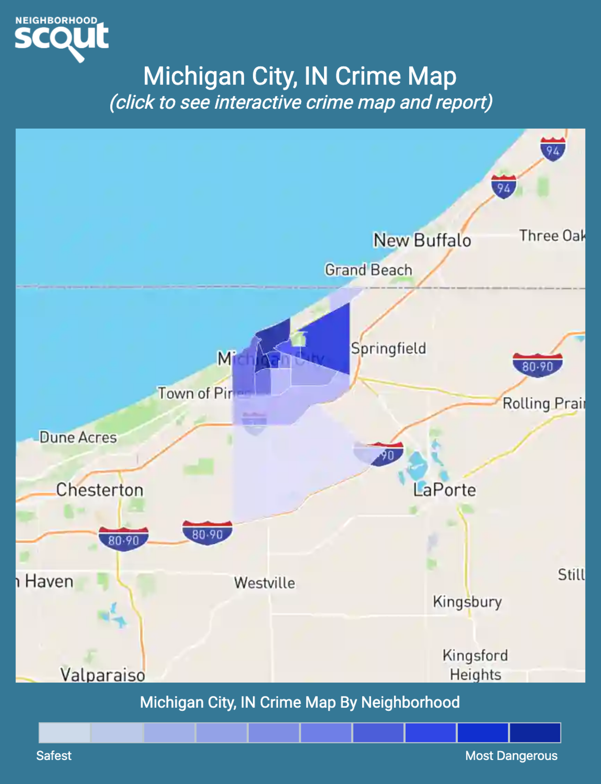 Michigan City, Indiana crime map