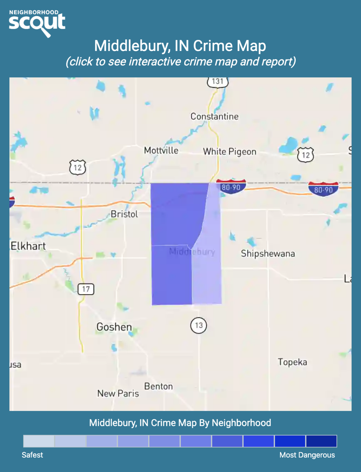 Middlebury, Indiana crime map