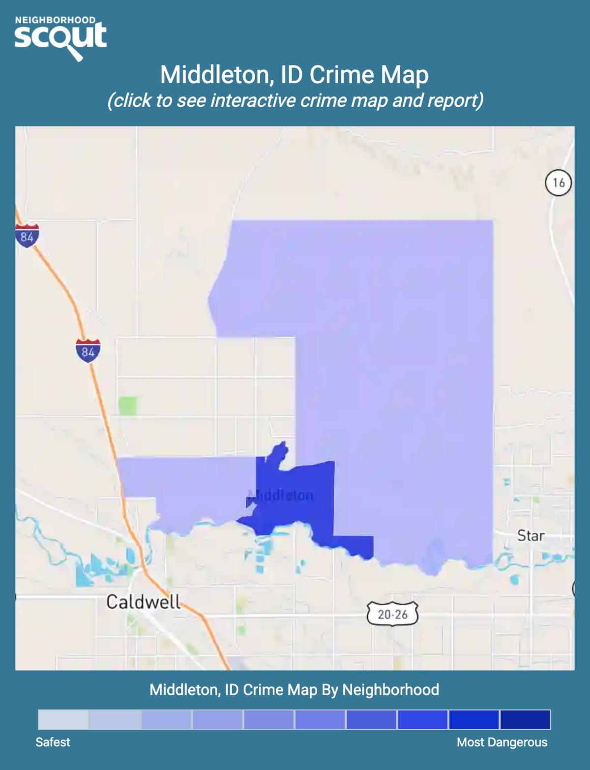 Middleton, Idaho crime map