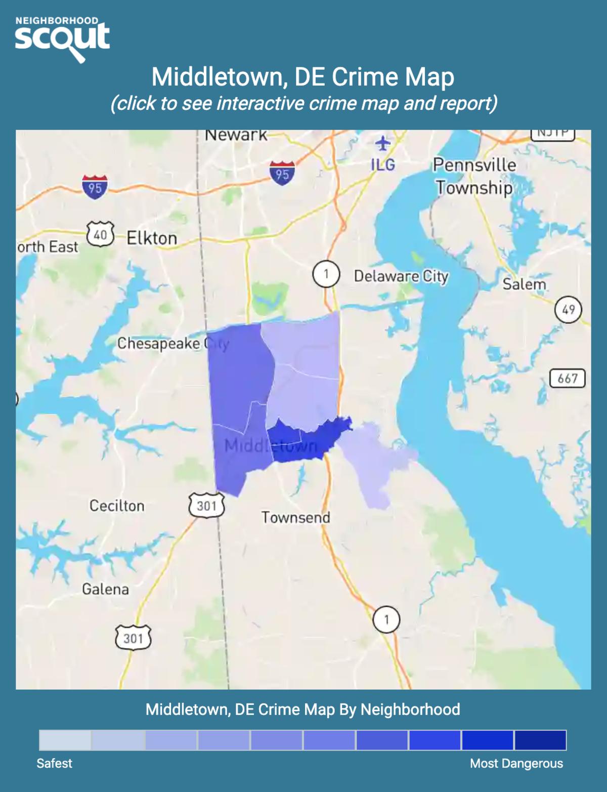 Middletown, Delaware crime map