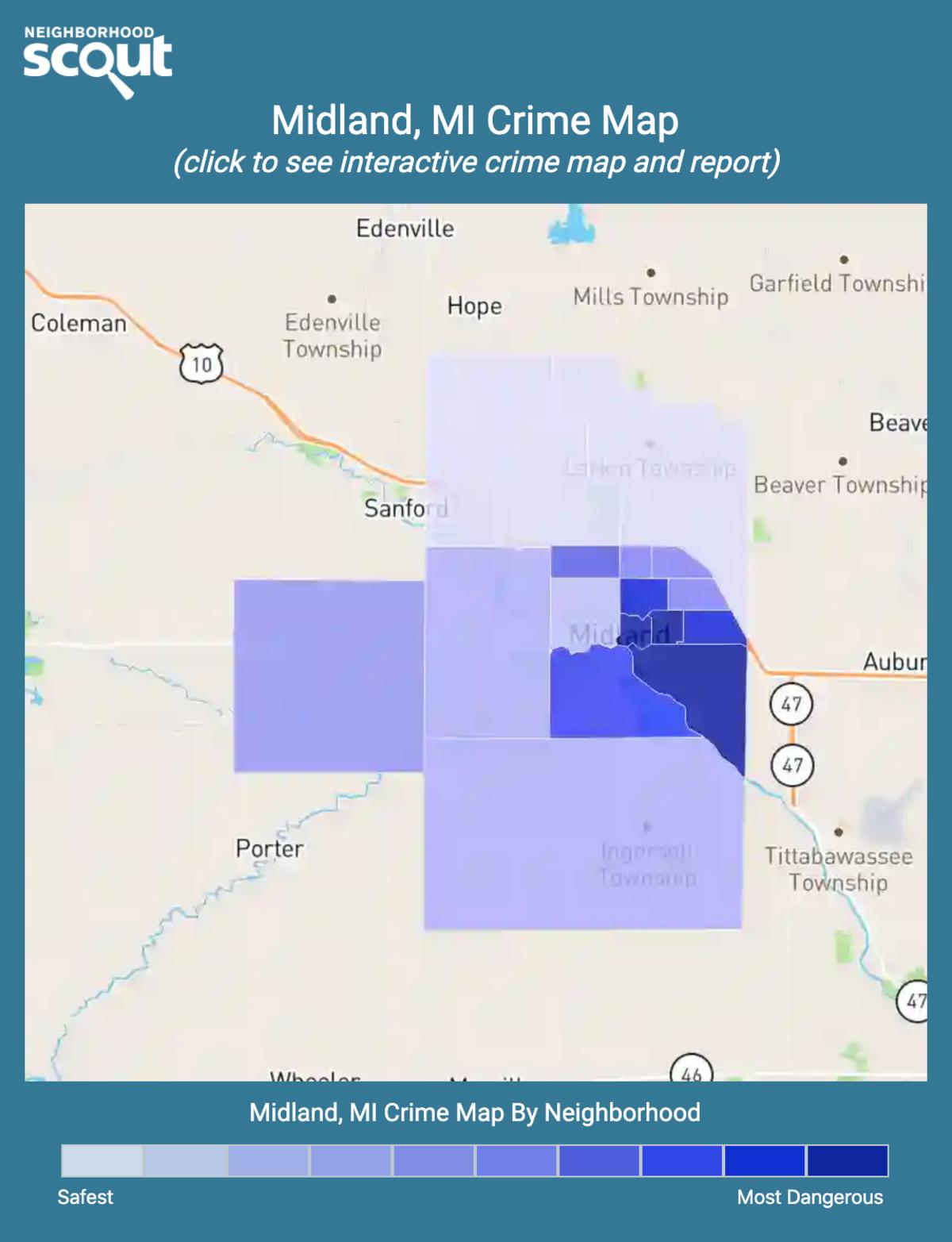 Midland, Michigan crime map