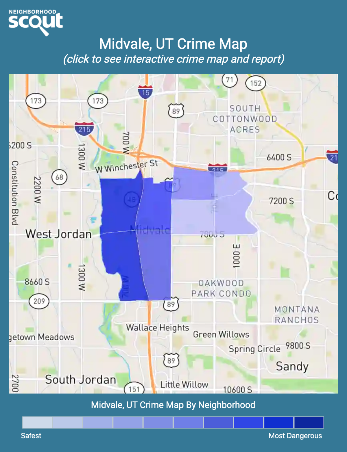 Midvale, Utah crime map