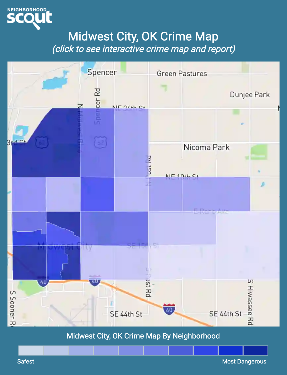 Midwest City, Oklahoma crime map