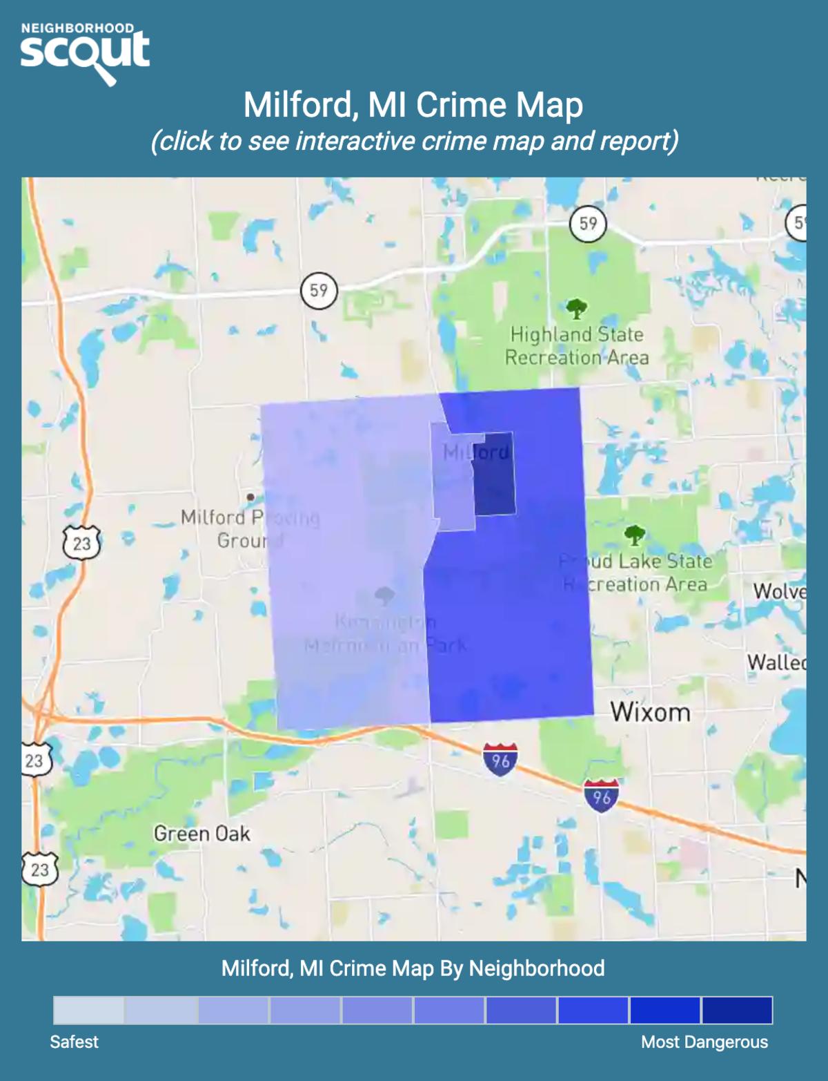 Milford, Michigan crime map