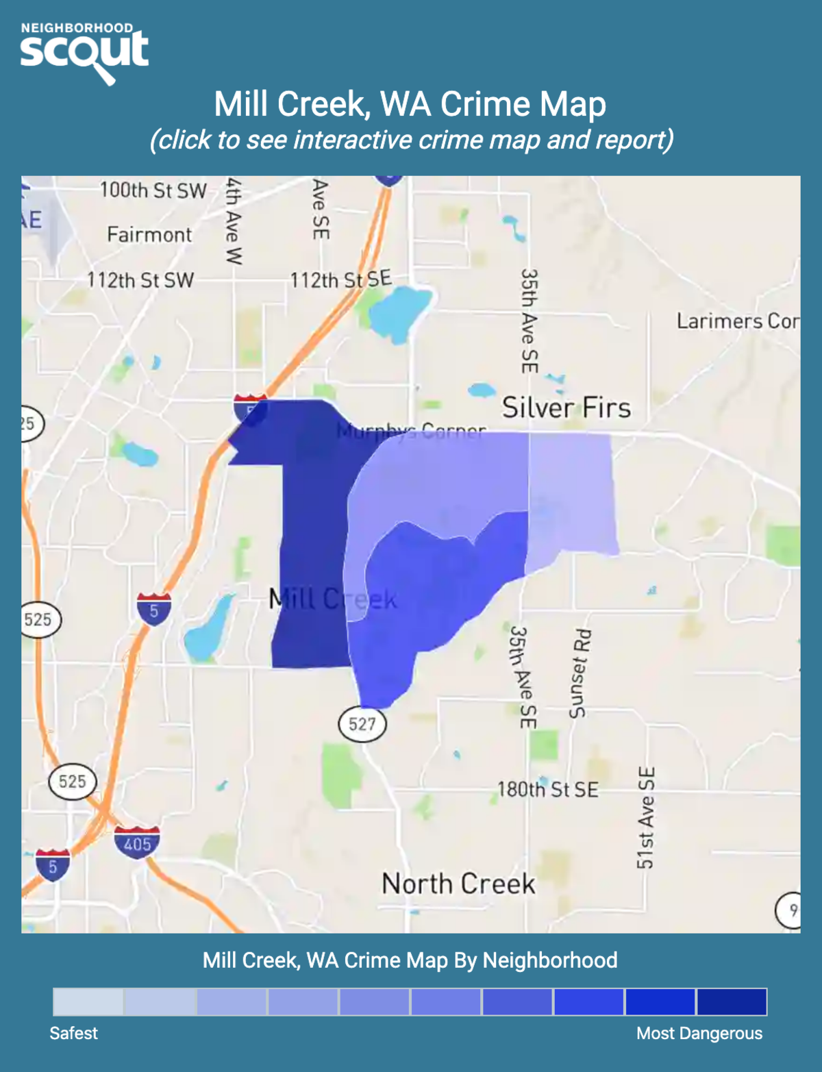 Mill Creek, Washington crime map