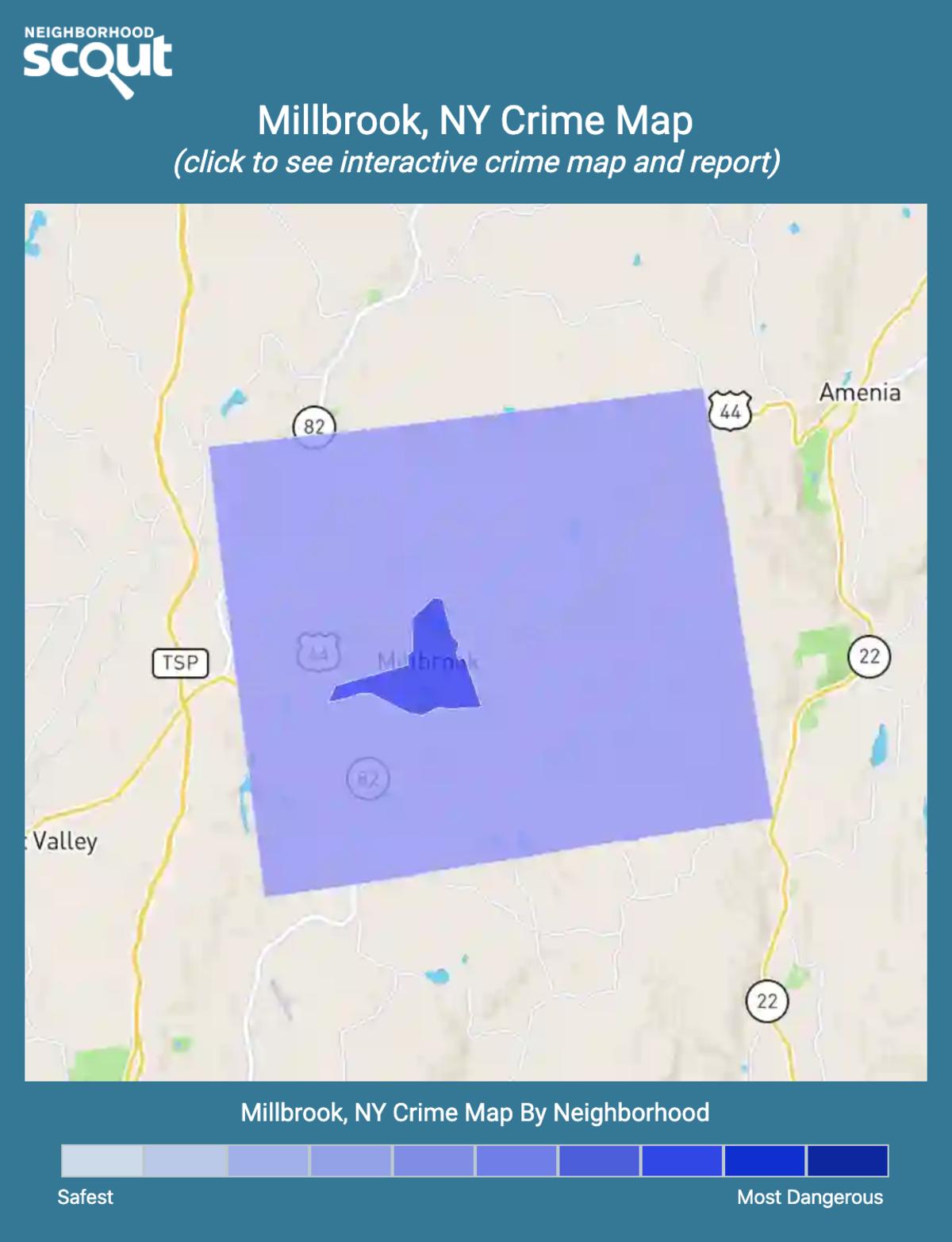 Millbrook, New York crime map