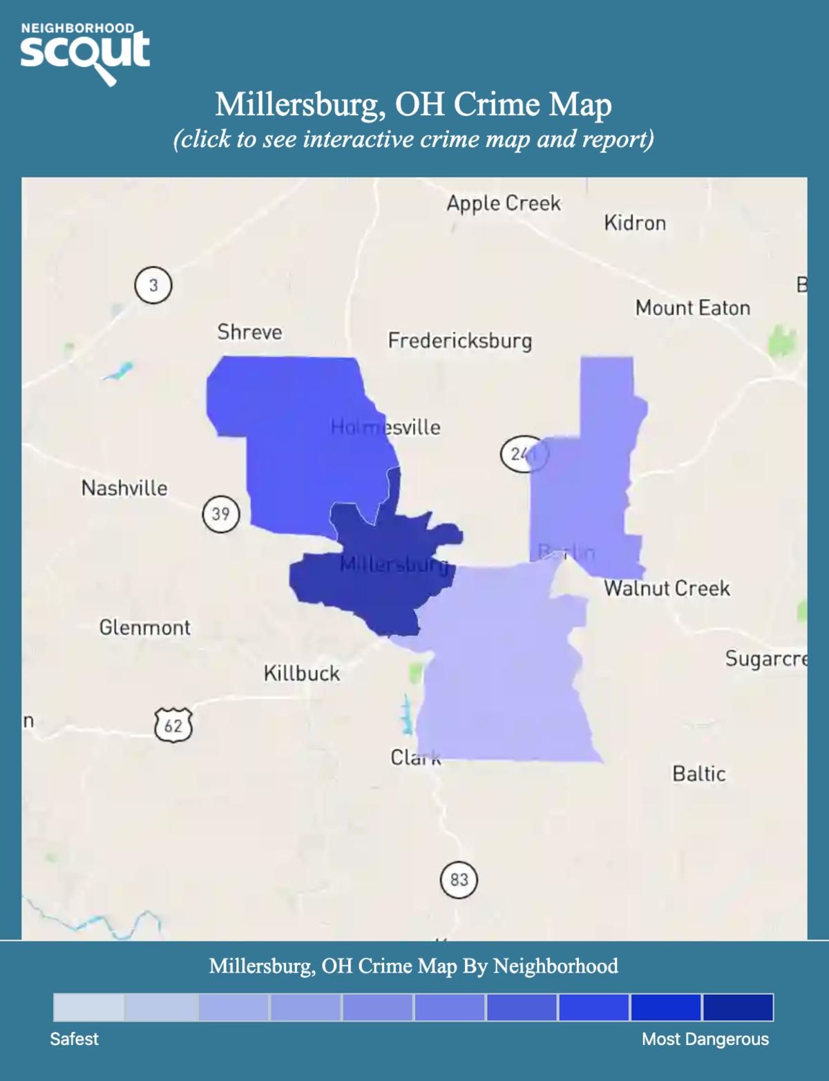 Millersburg, Ohio crime map
