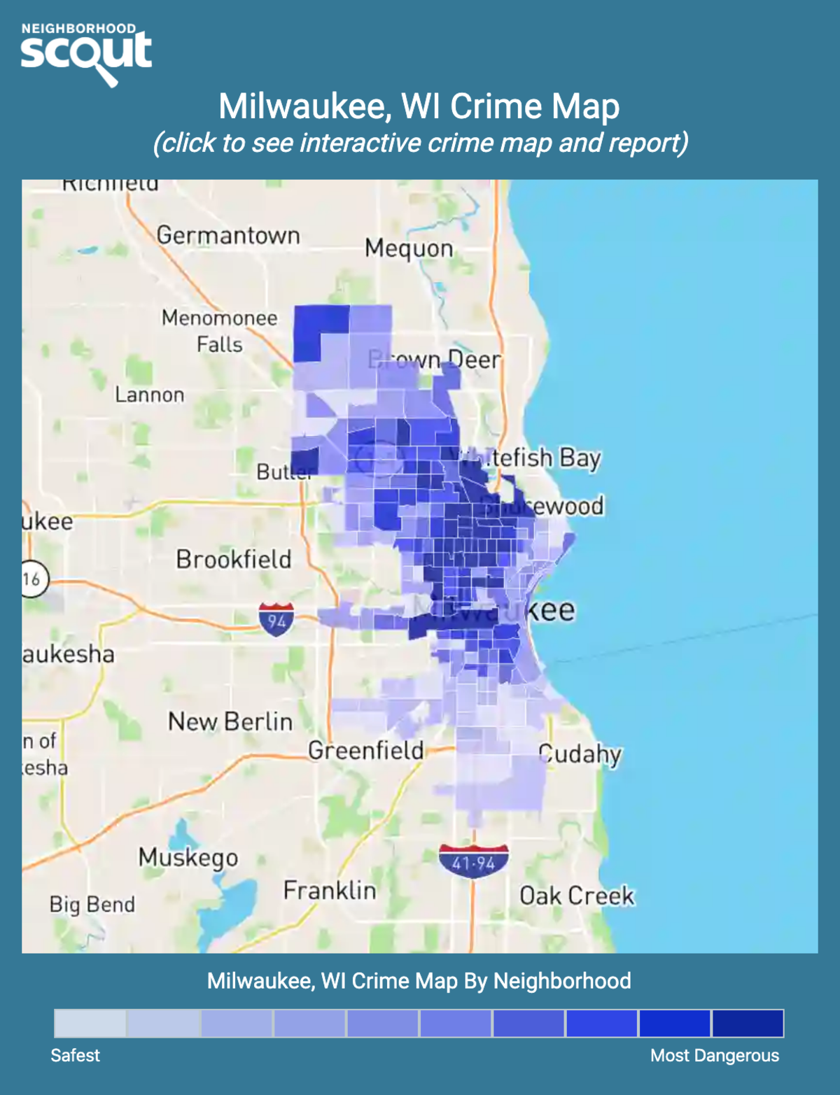 Milwaukee, Wisconsin crime map