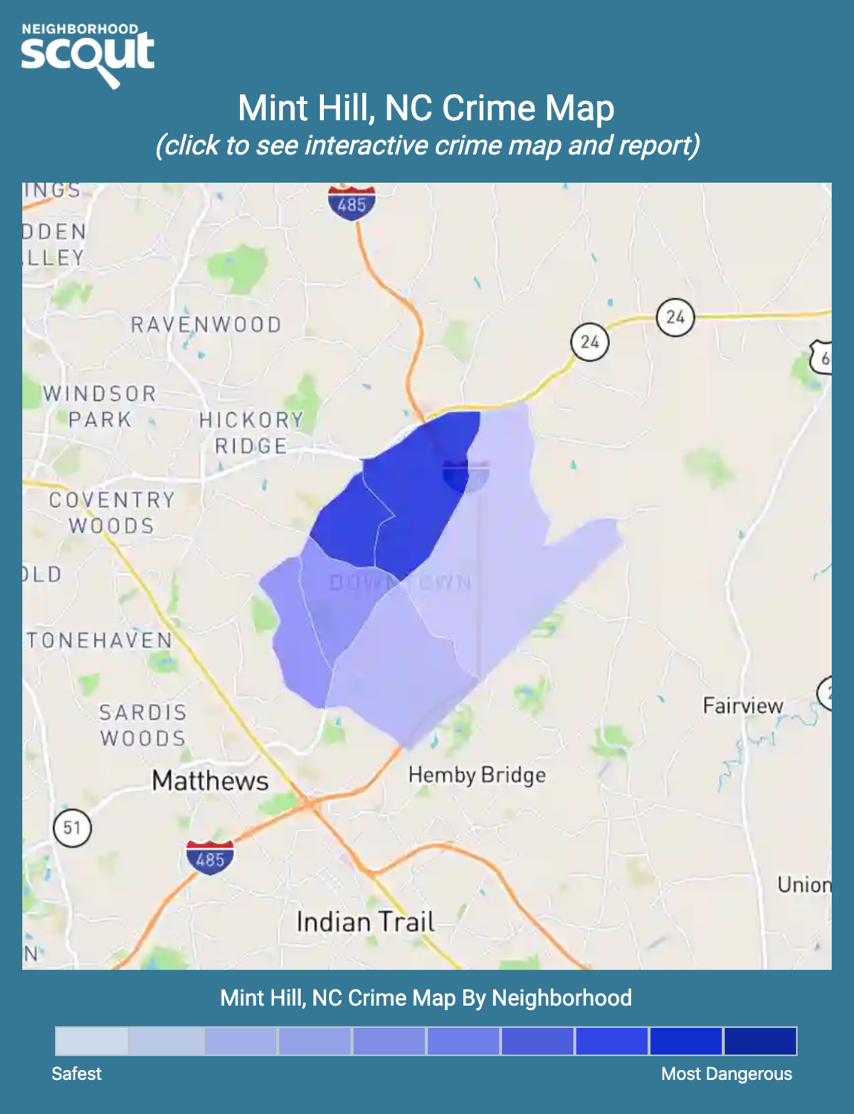 Mint Hill, North Carolina crime map