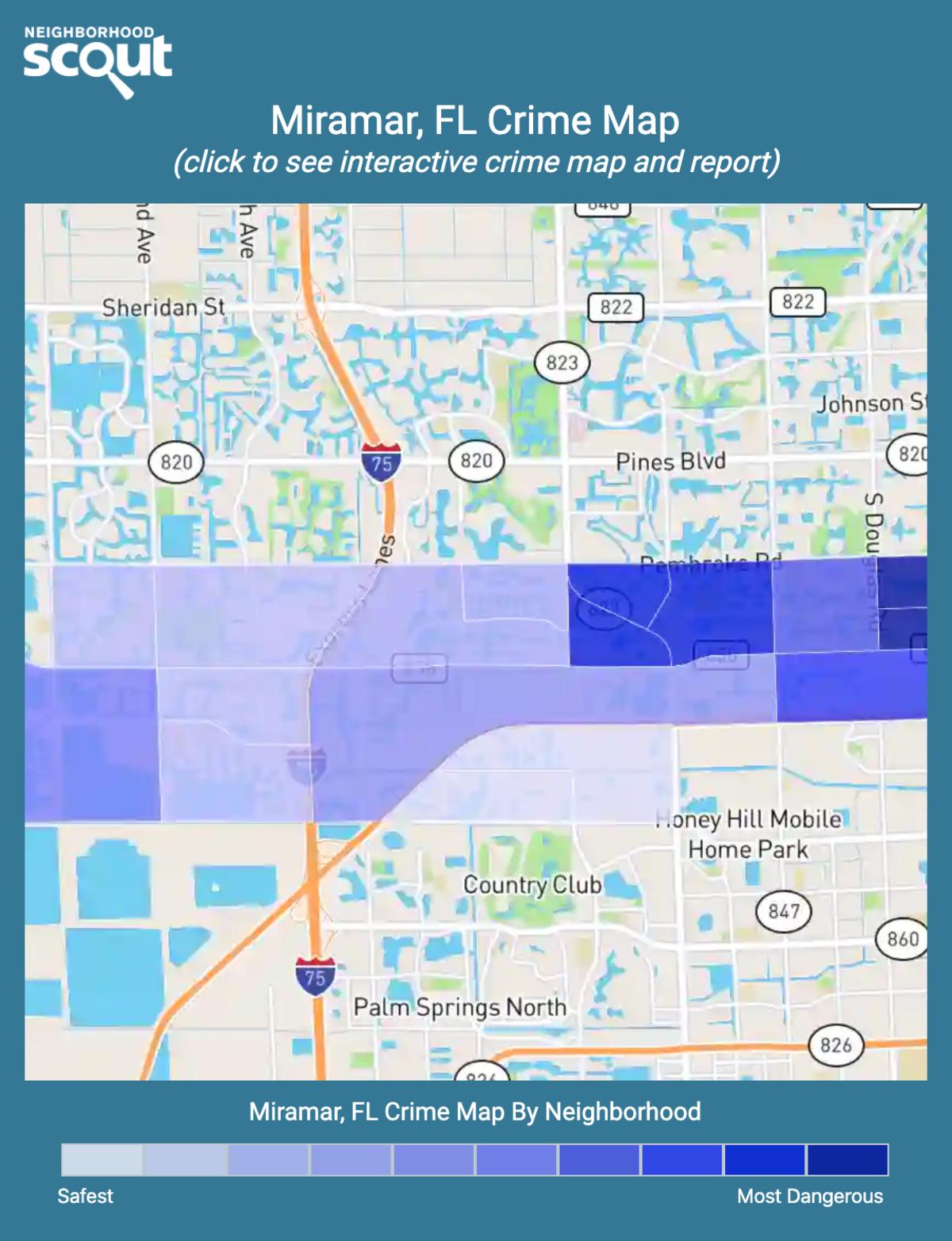 Miramar, Florida crime map