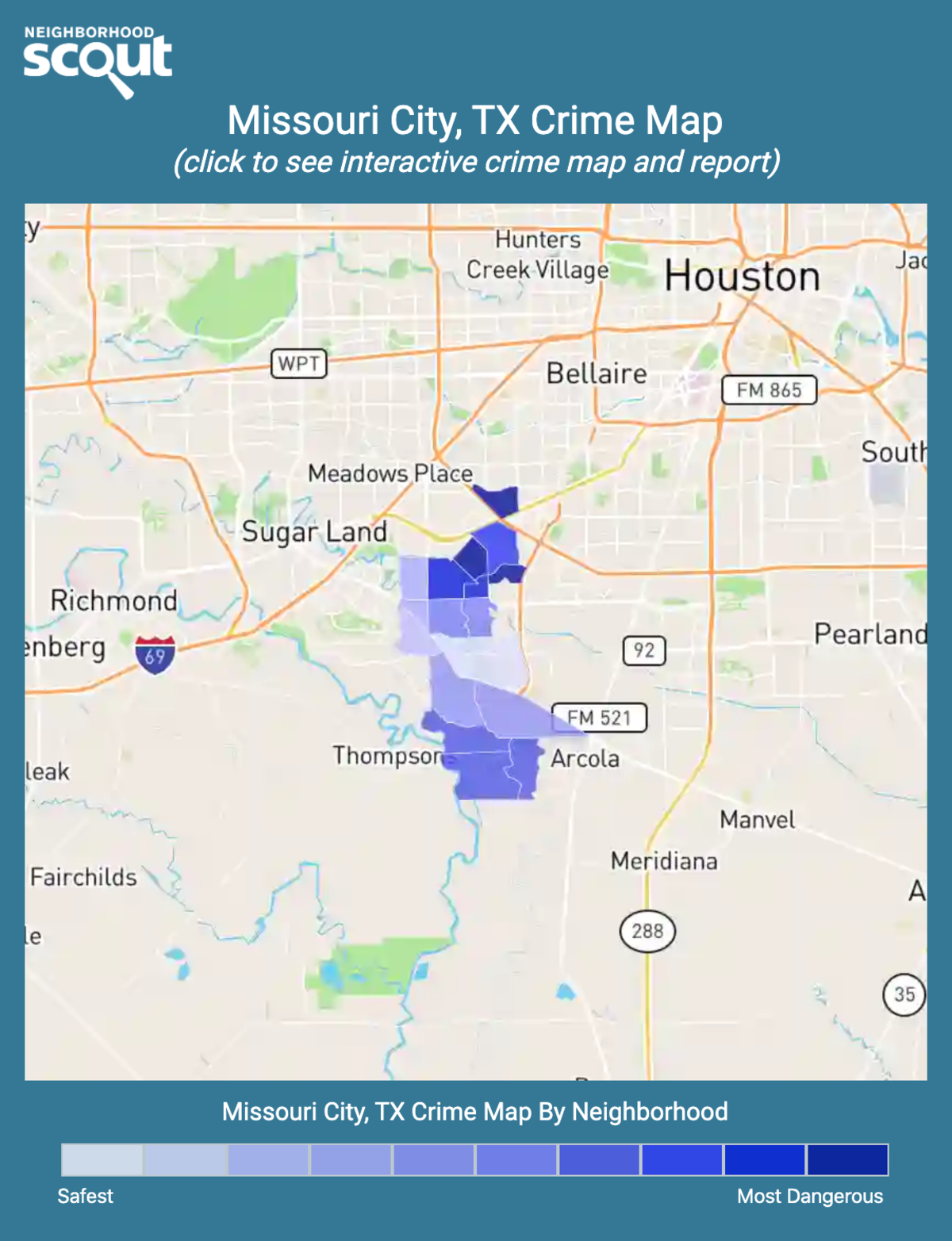 Missouri City, Texas crime map