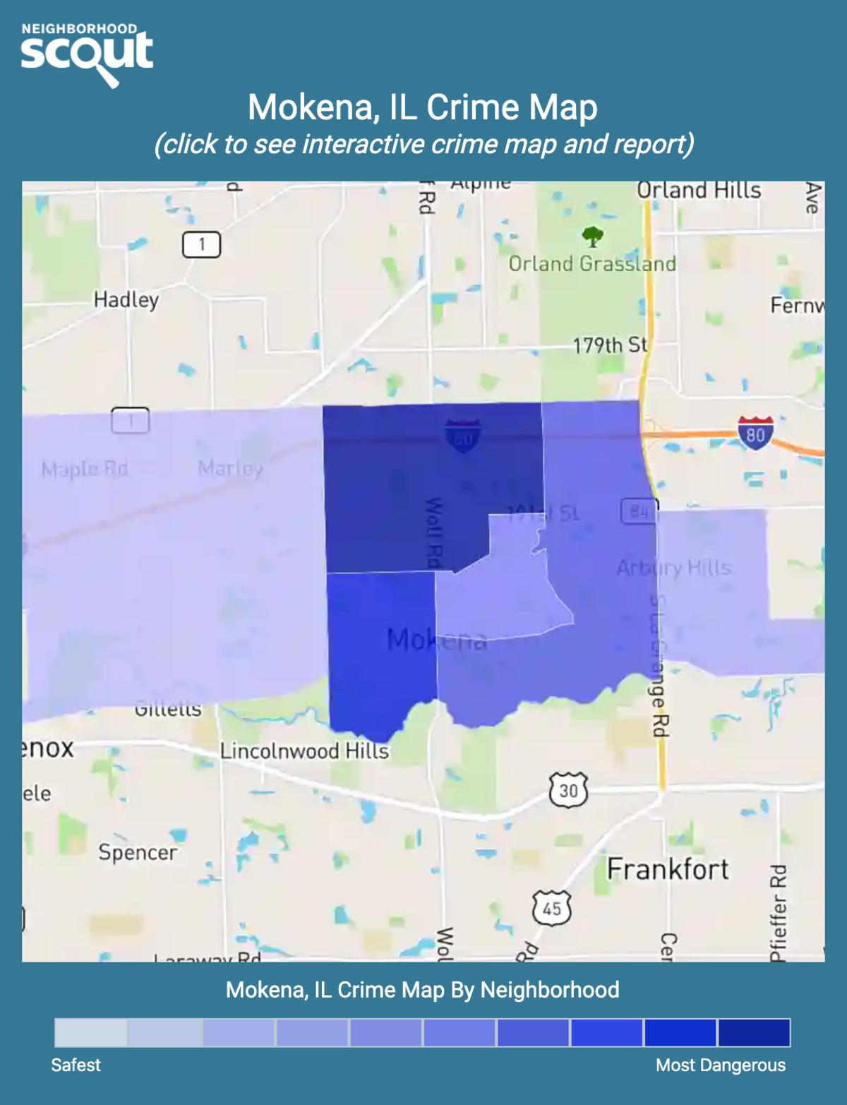 Mokena, Illinois crime map