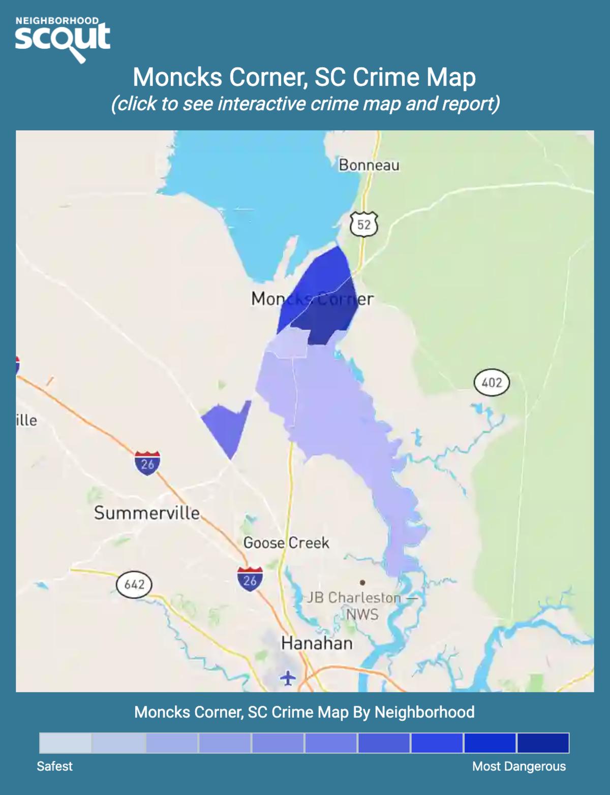 Moncks Corner, South Carolina crime map