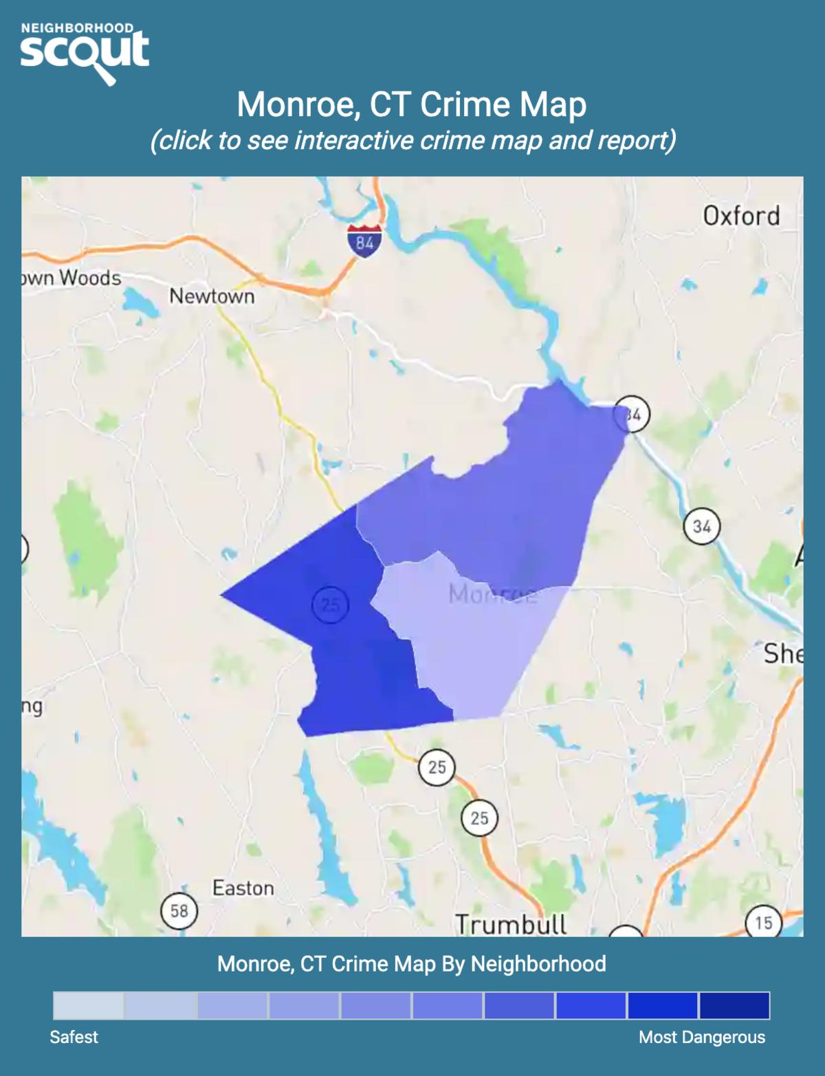 Monroe, Connecticut crime map