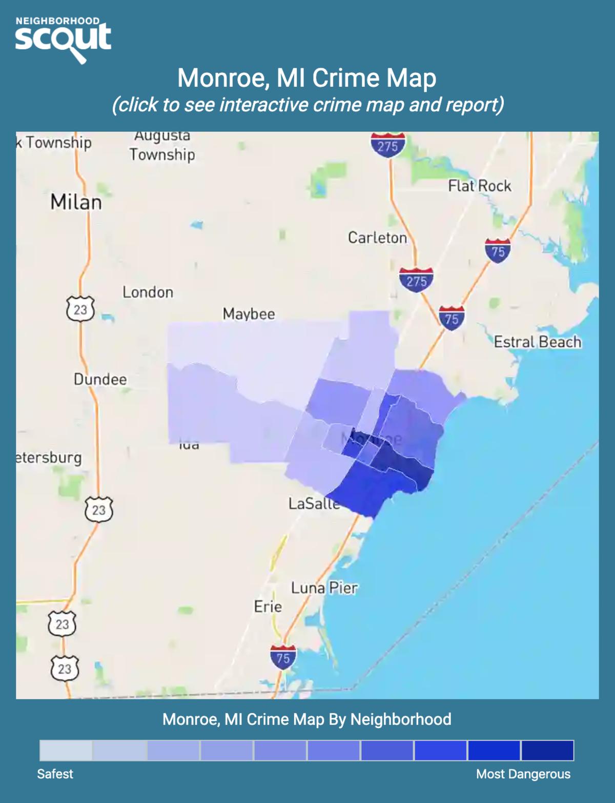 Monroe, Michigan crime map