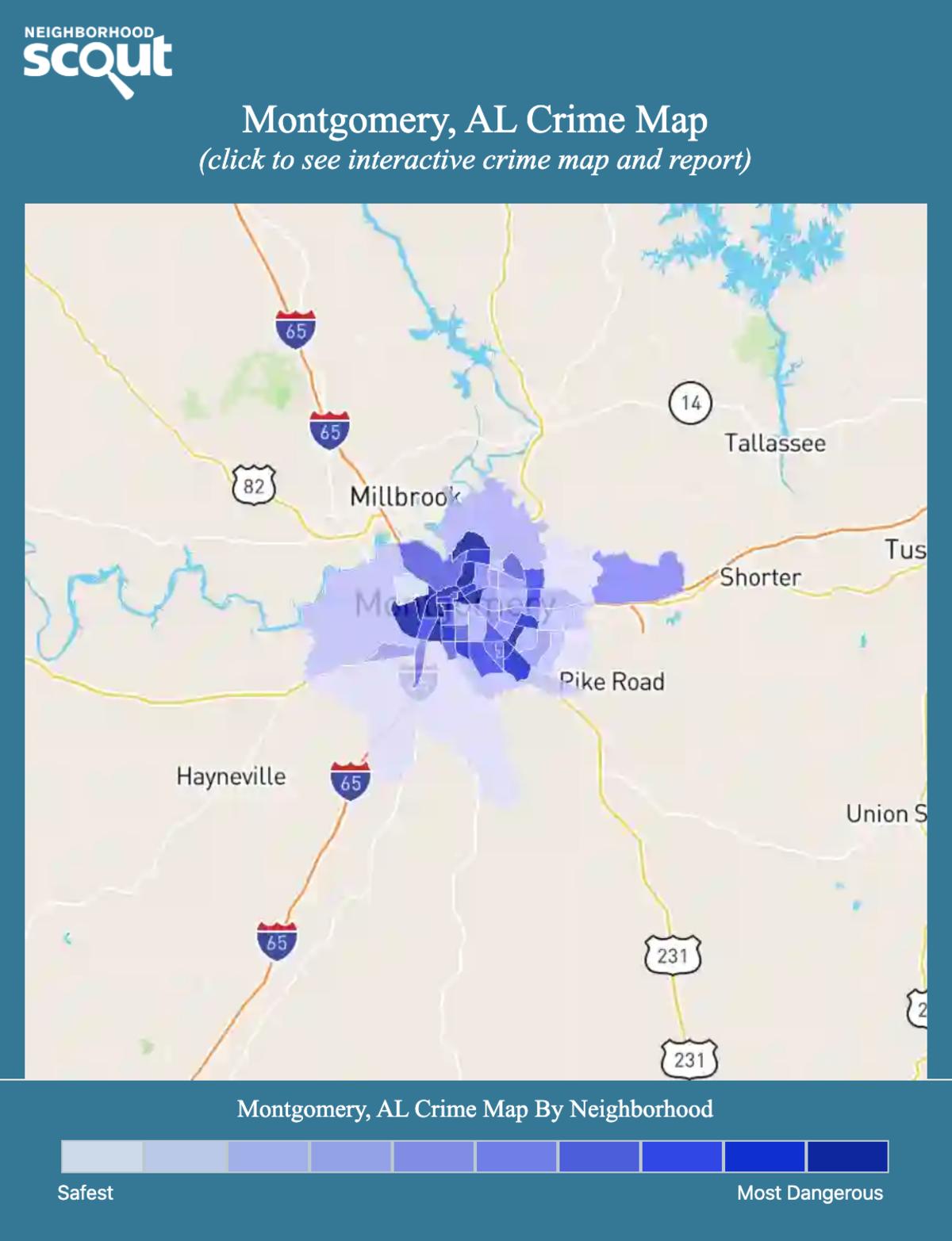 Montgomery, Alabama crime map
