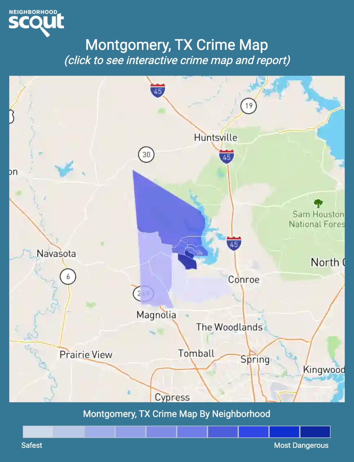 Montgomery, Texas crime map