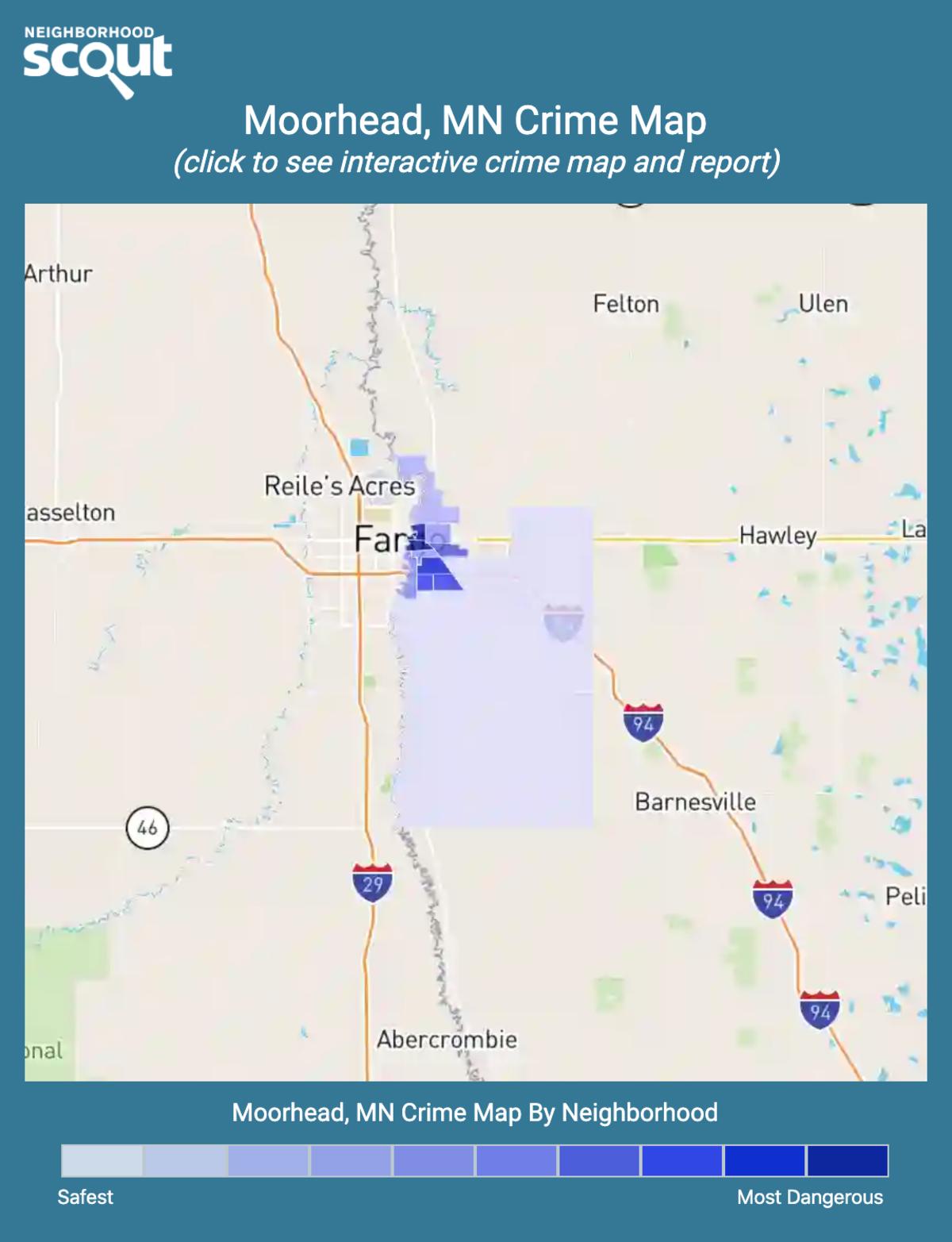 Moorhead, Minnesota crime map