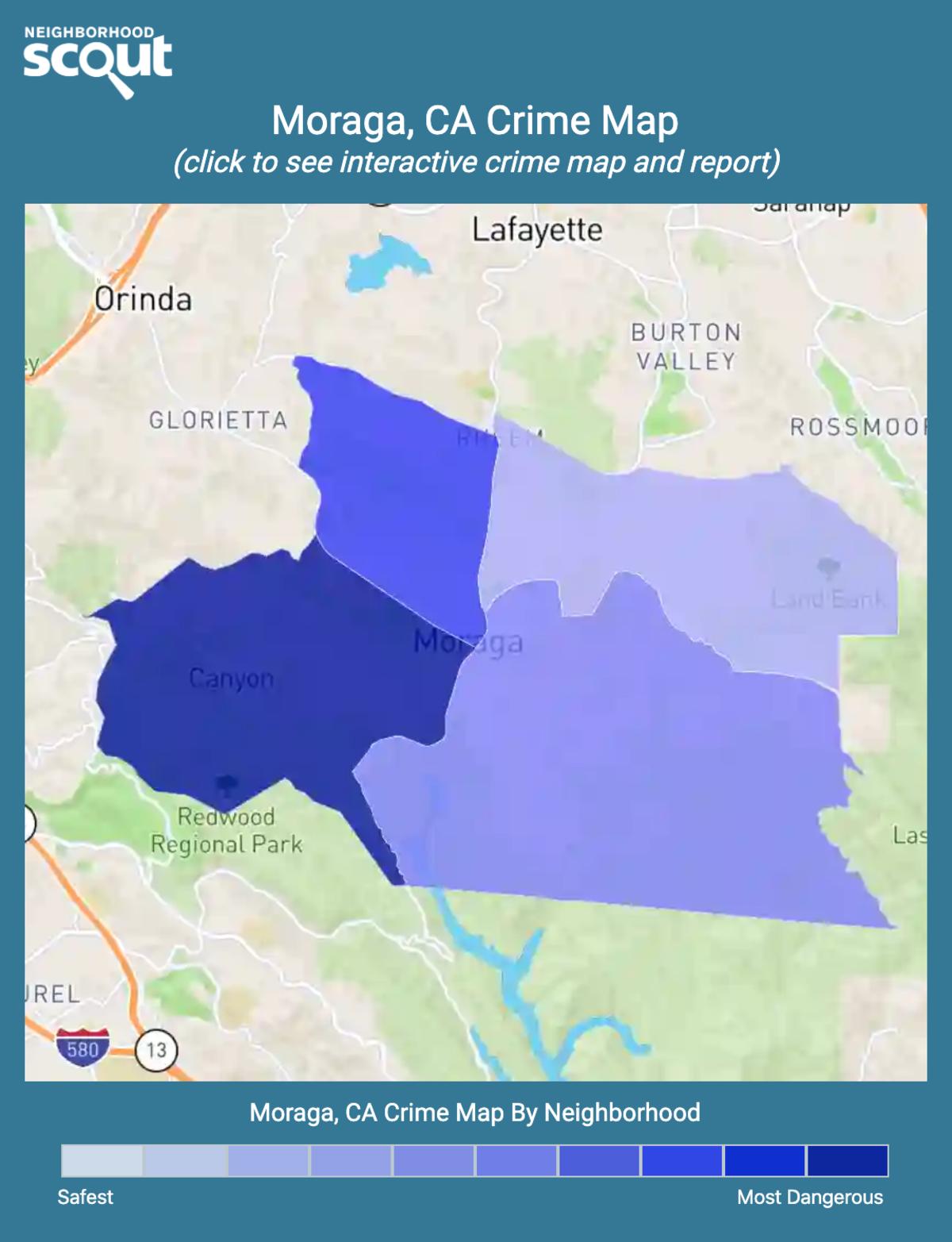 Moraga, California crime map