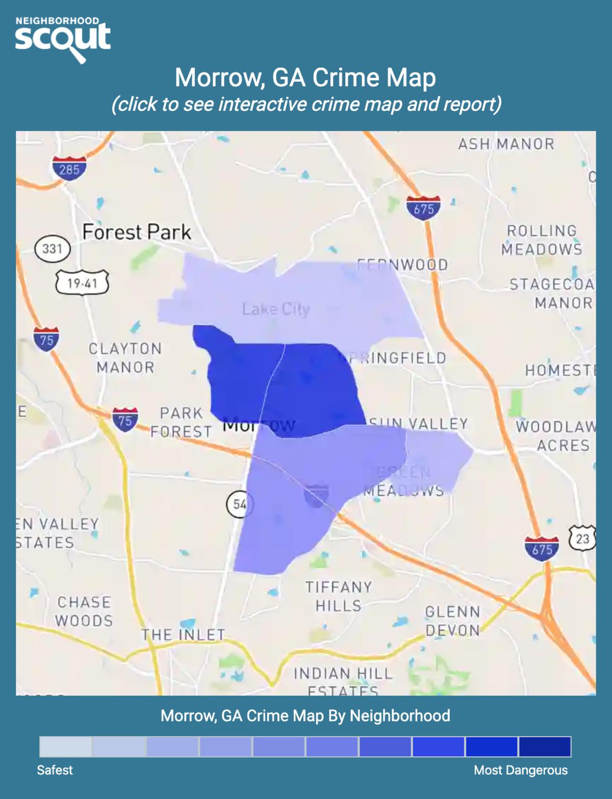 Morrow, Georgia crime map